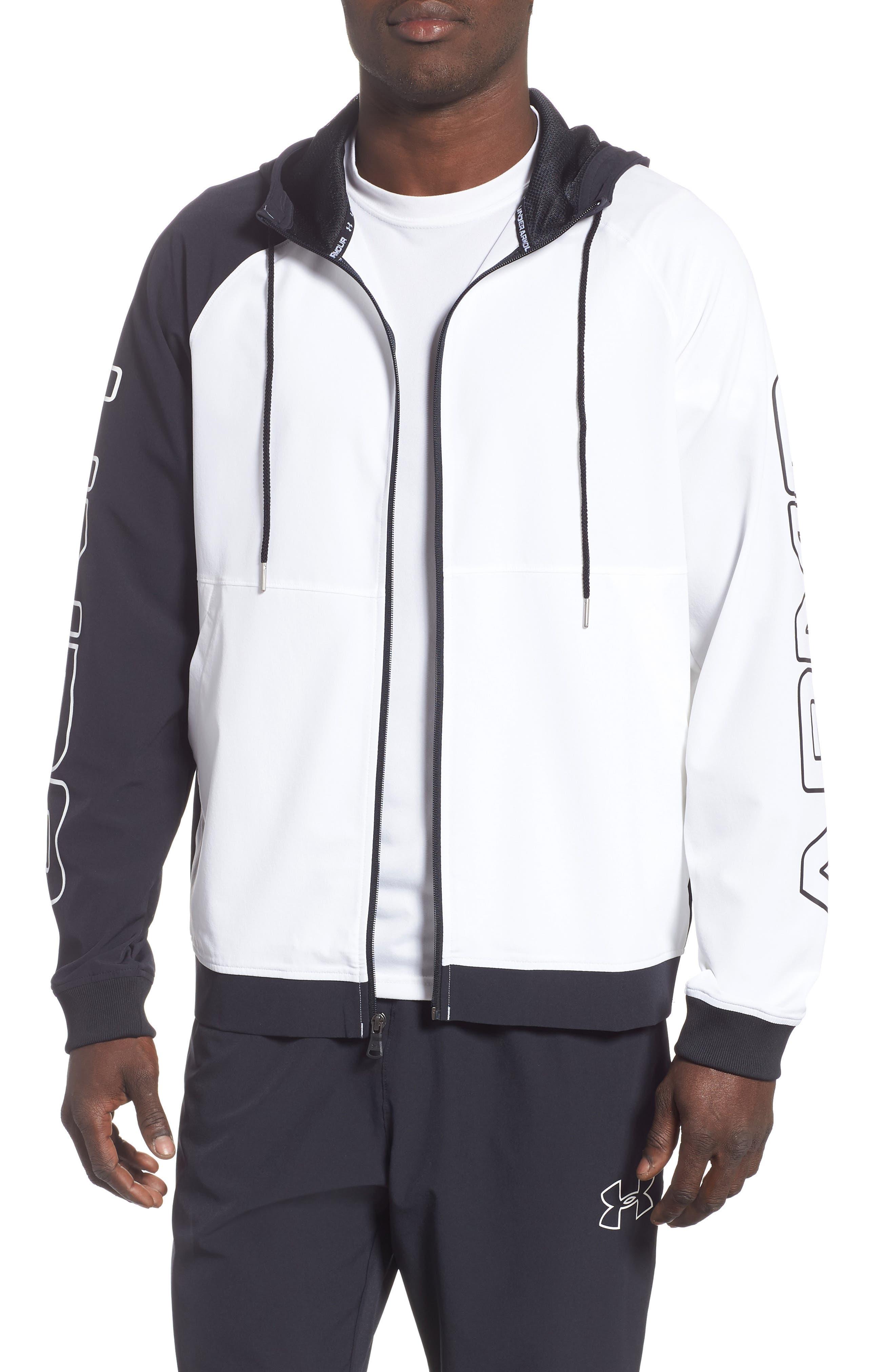 Under Armour Baseline Hooded Jacket, White