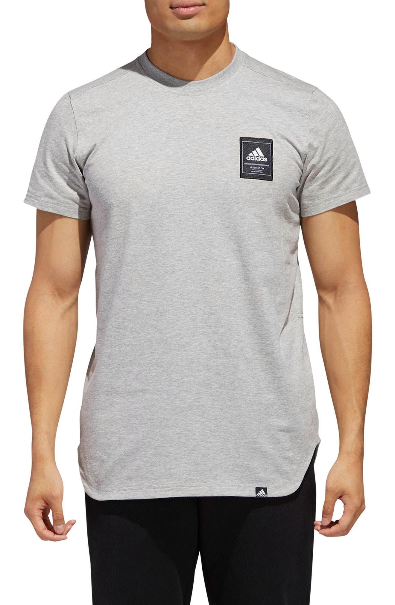 Scoop International T-Shirt,                             Main thumbnail 1, color,                             MEDIUM GREY HEATHER