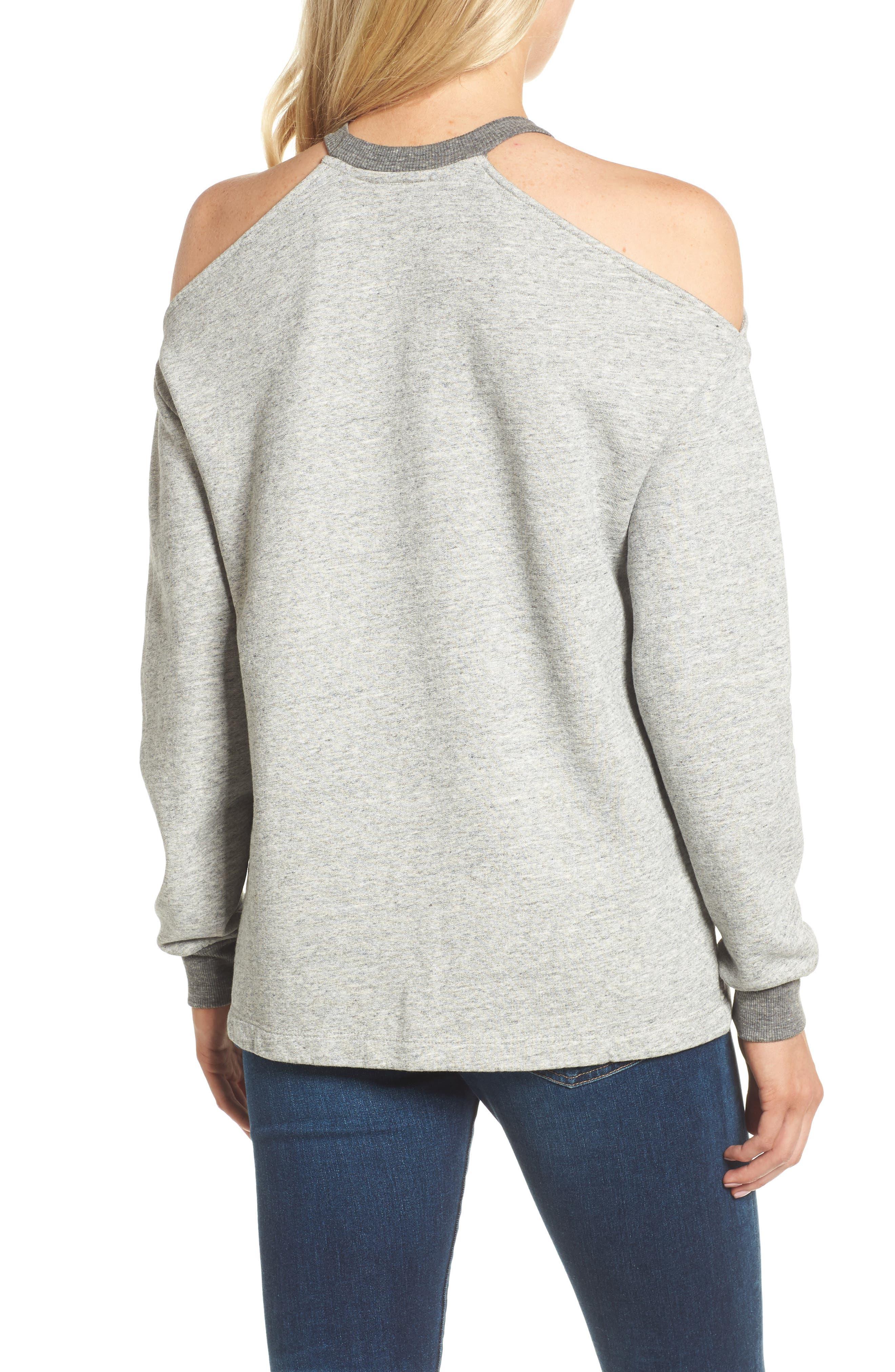 Gizi Cold Shoulder Sweatshirt,                             Alternate thumbnail 2, color,                             022