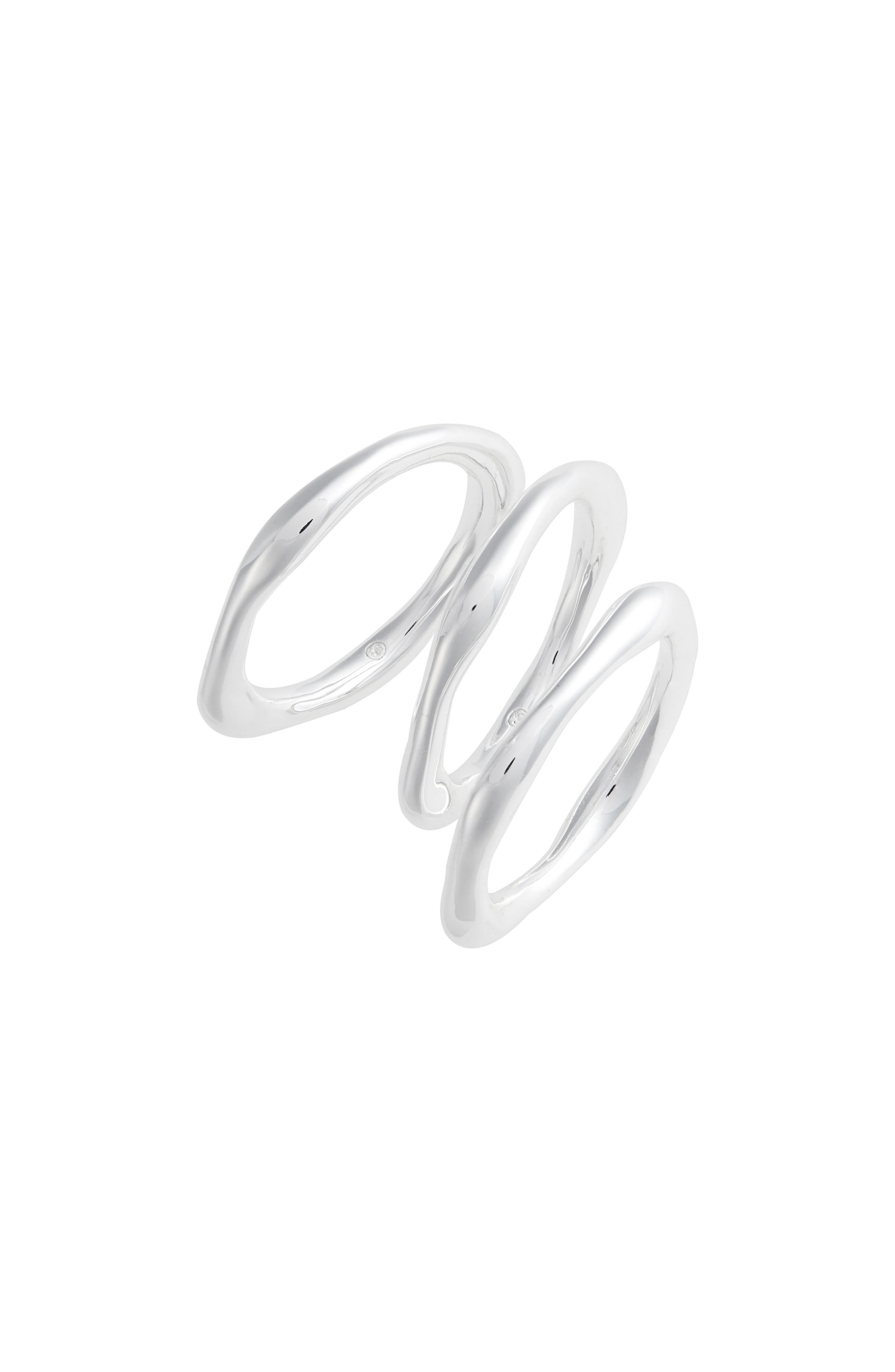 Quinn Set of 3 Rings,                         Main,                         color, SILVER