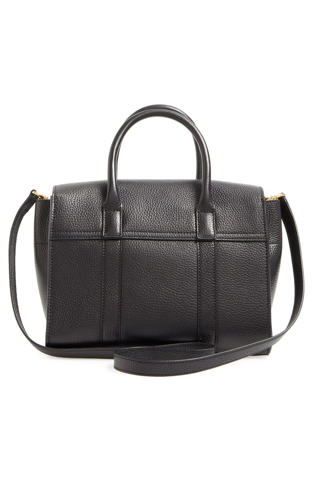 'Small Bayswater' Leather Satchel,                             Alternate thumbnail 3, color,                             001