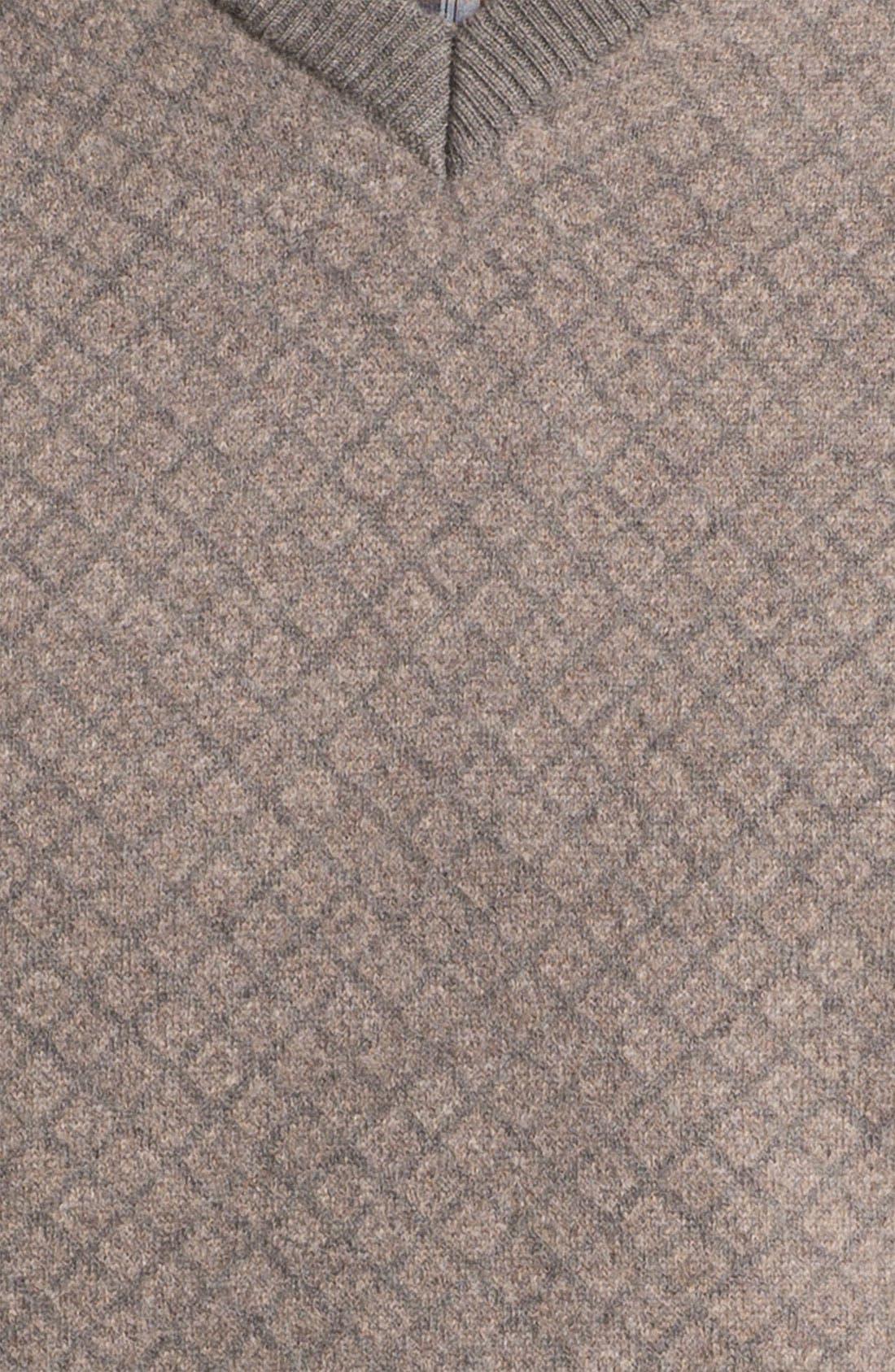 FRANCO DANTI,                             V-Neck Wool Sweater Vest,                             Alternate thumbnail 3, color,                             200