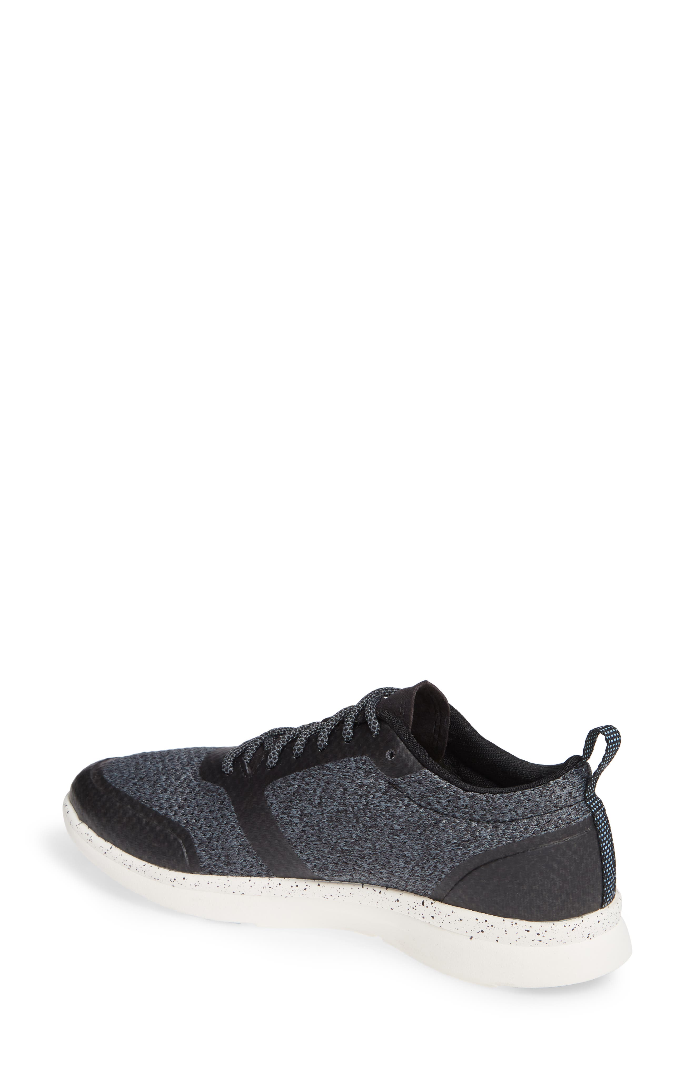 Linden Sneaker,                             Alternate thumbnail 2, color,                             BLACK FABRIC