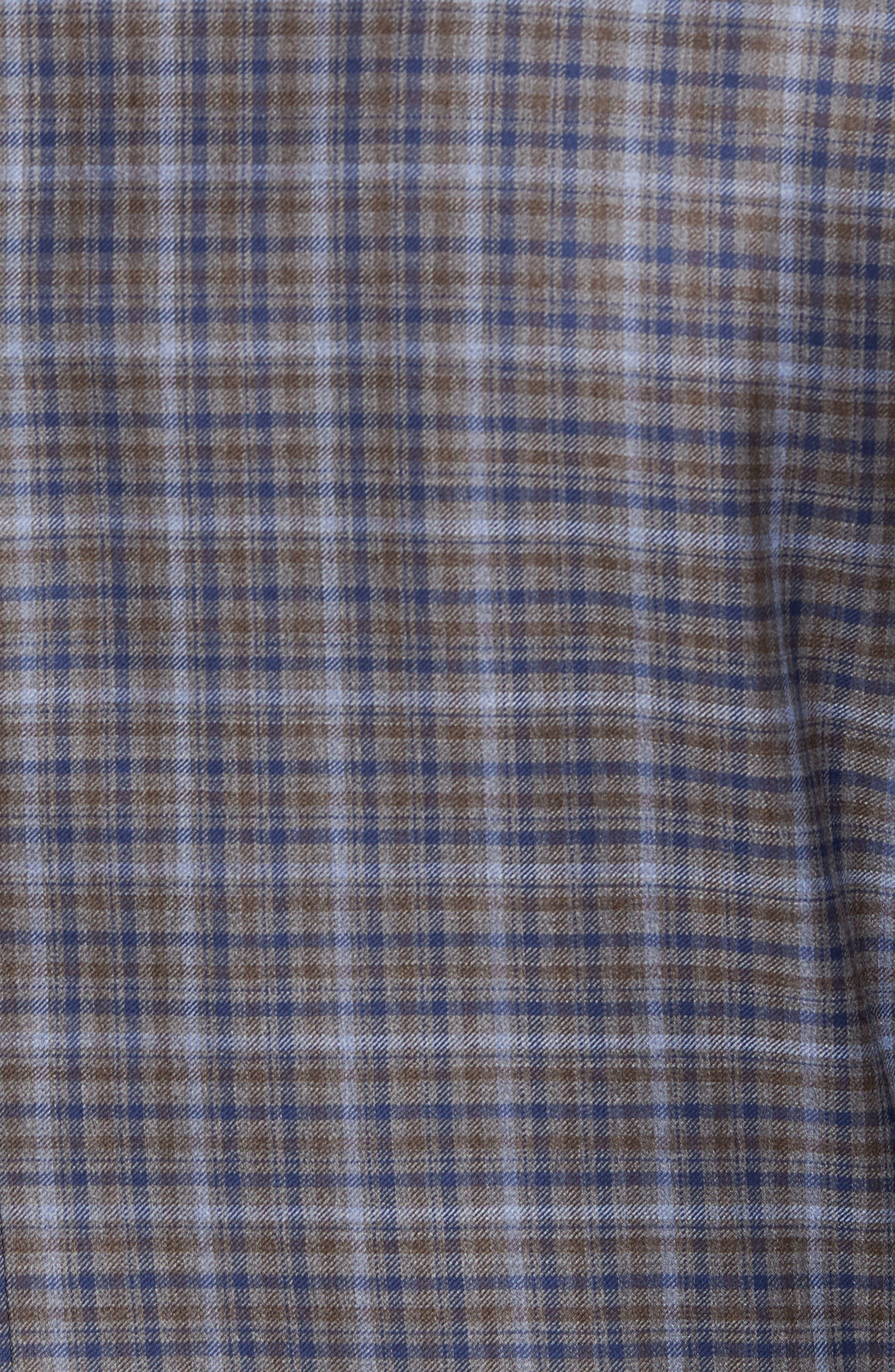 Classic Fit Plaid Wool Sport Coat,                             Alternate thumbnail 6, color,                             280