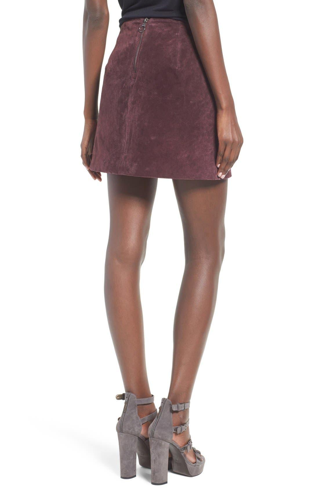 Suede Miniskirt,                             Alternate thumbnail 21, color,