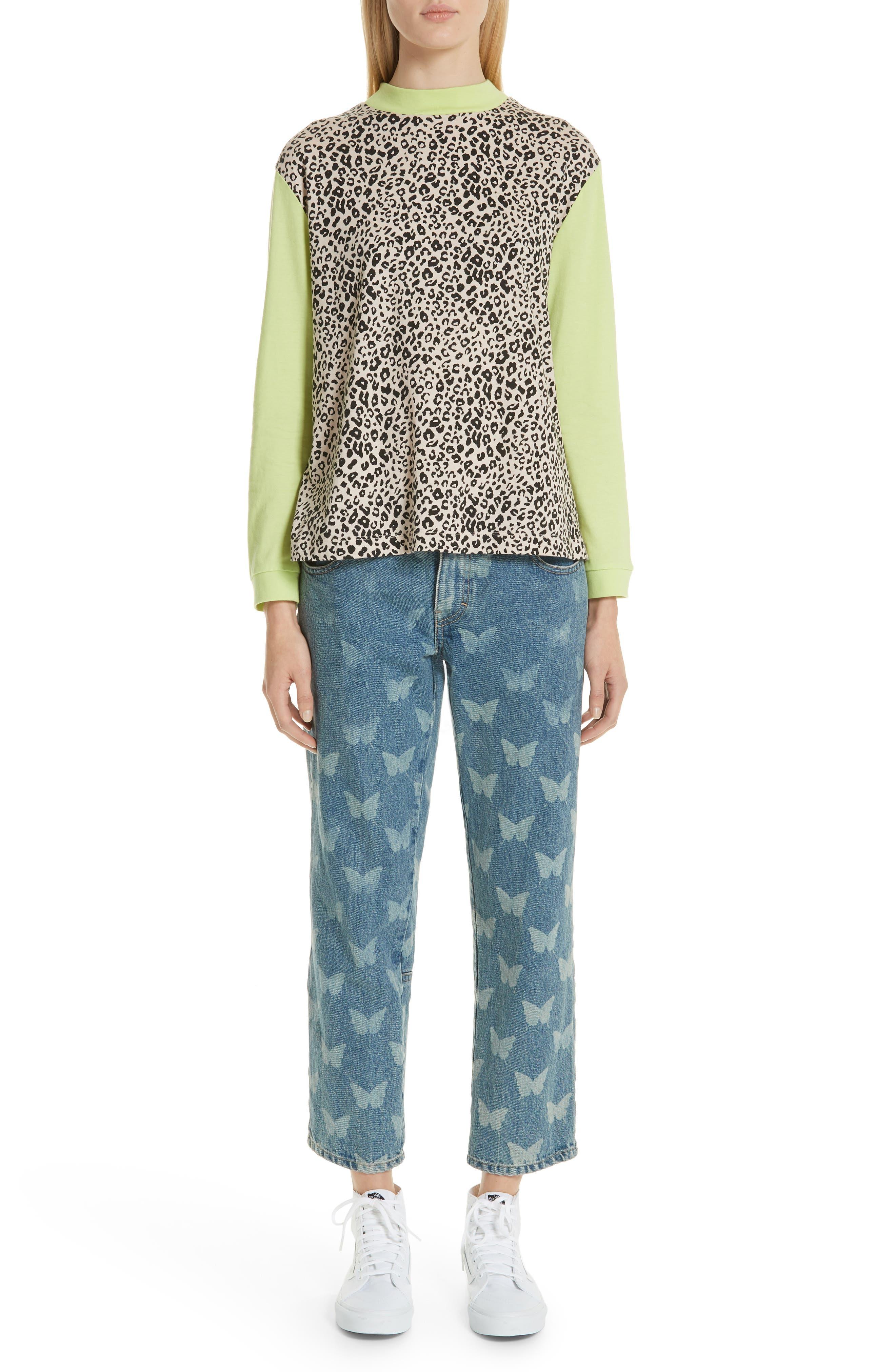 Lewis Leopard & Neon Sweater,                             Alternate thumbnail 7, color,                             SNOW LEOPARD