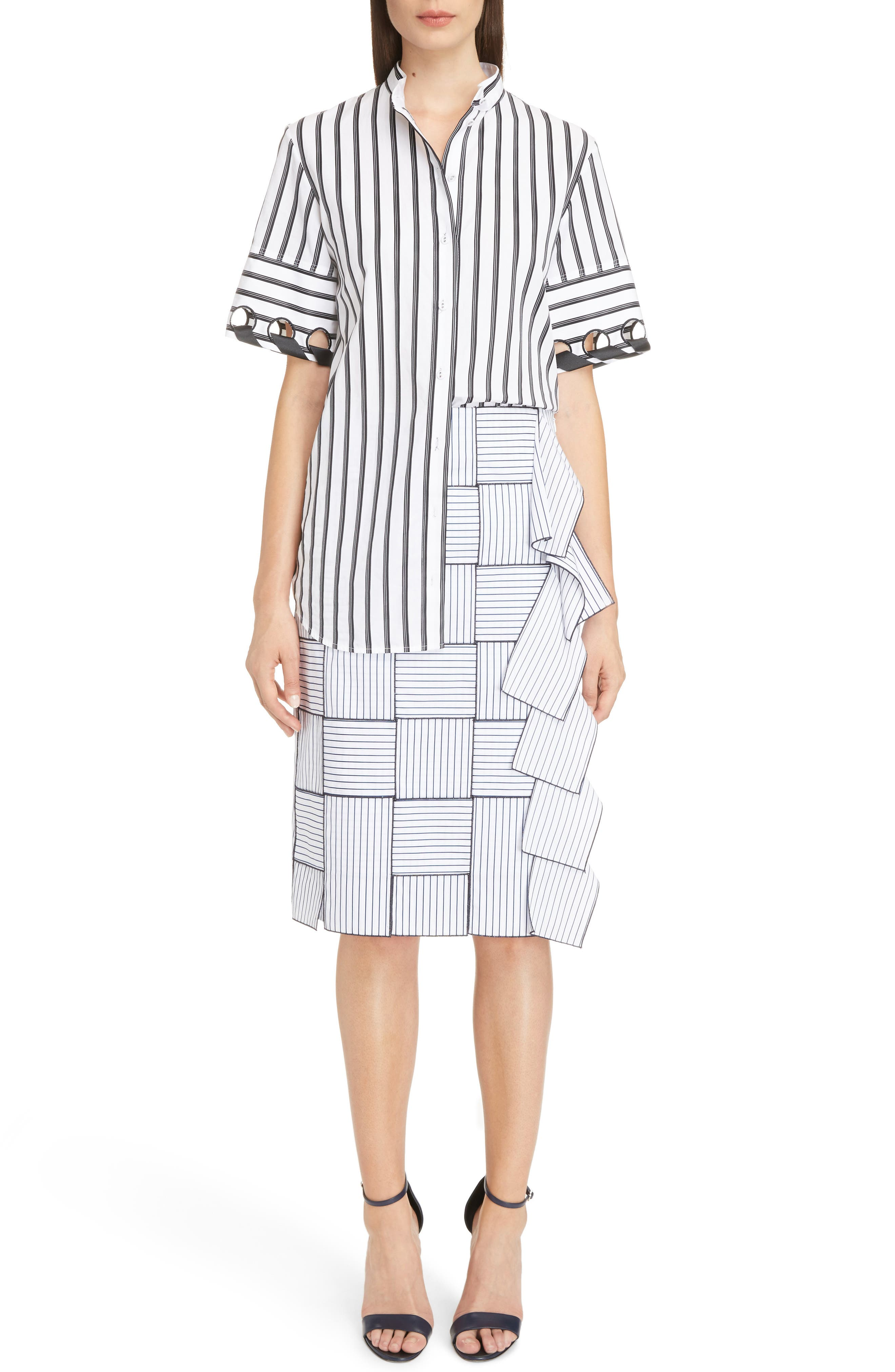 Basket-Weave Pencil Skirt,                             Alternate thumbnail 6, color,                             404