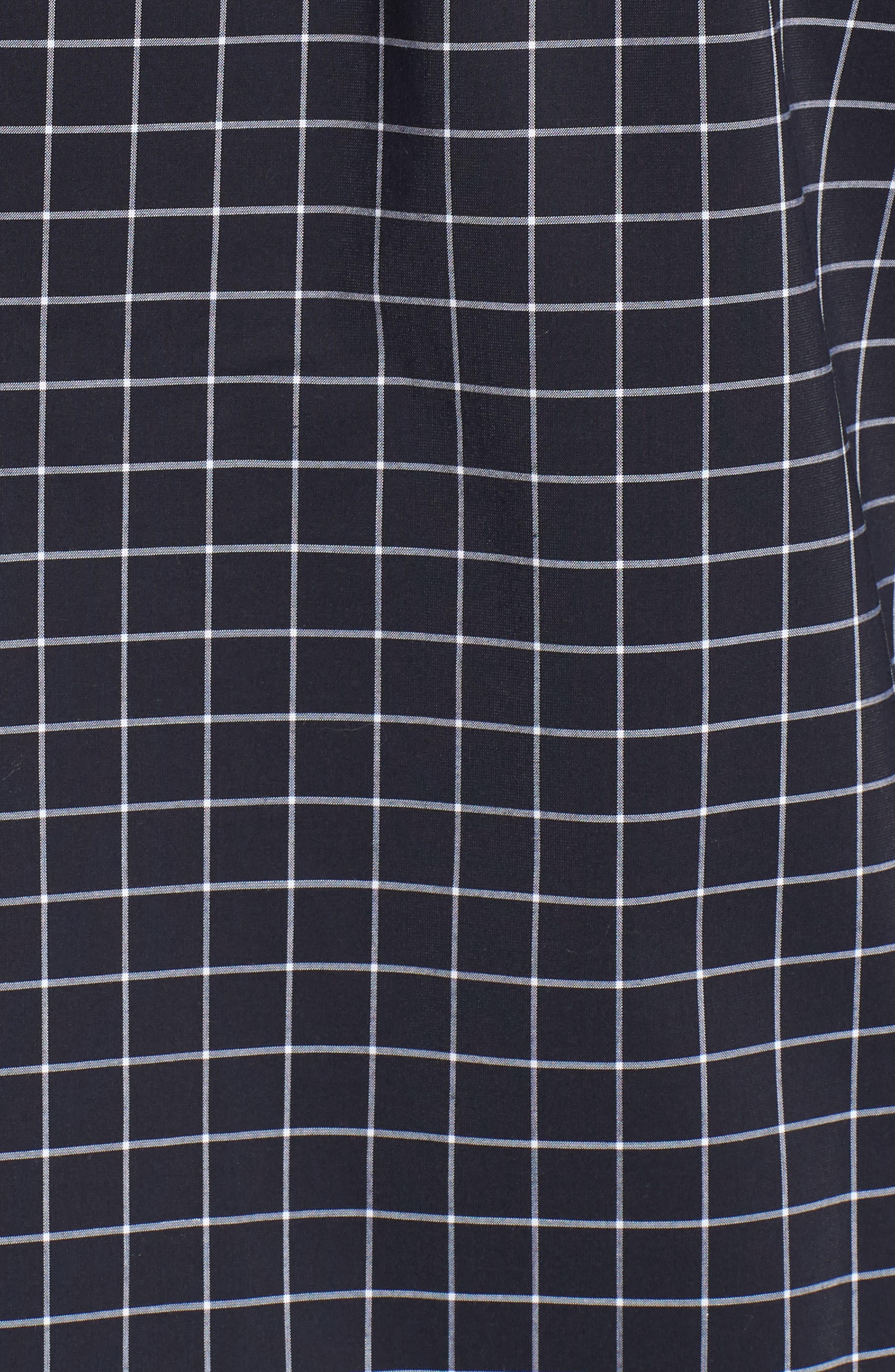 Slim Fit Tech-Smart Grid Sport Shirt,                             Alternate thumbnail 5, color,