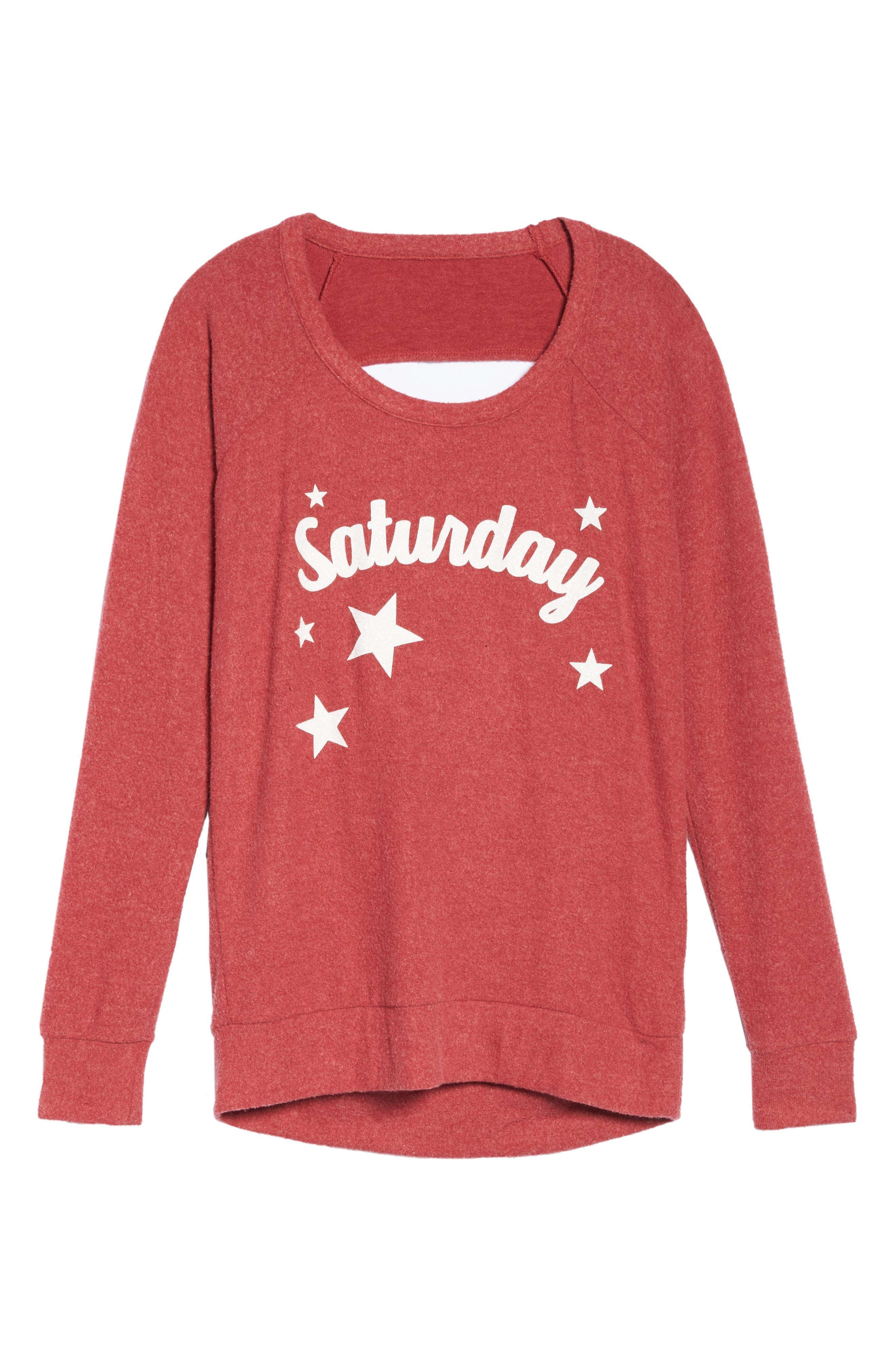 Love Saturday Drape Back Pullover,                             Alternate thumbnail 6, color,