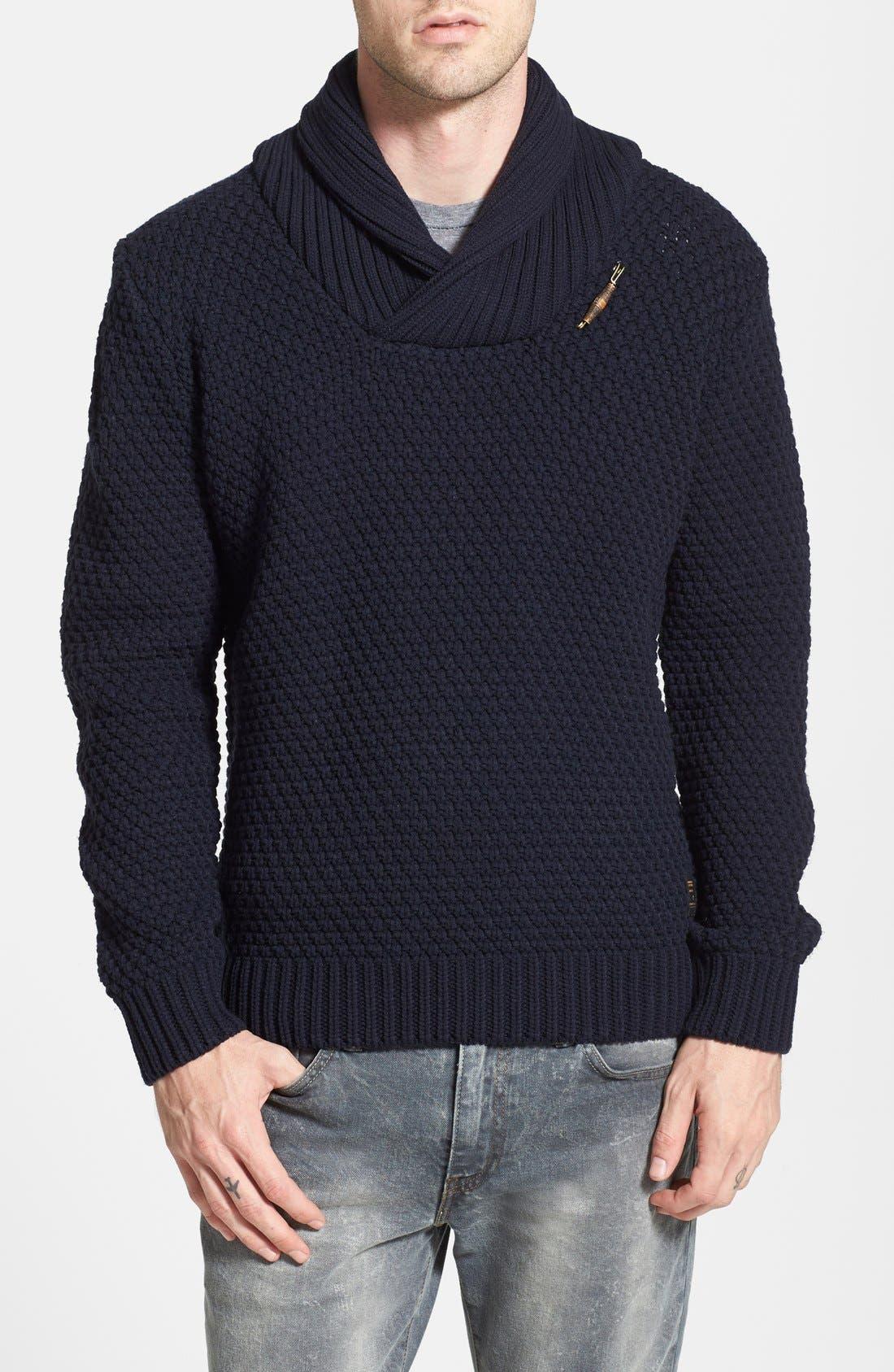 Shawl Collar Sweater,                             Main thumbnail 1, color,                             020