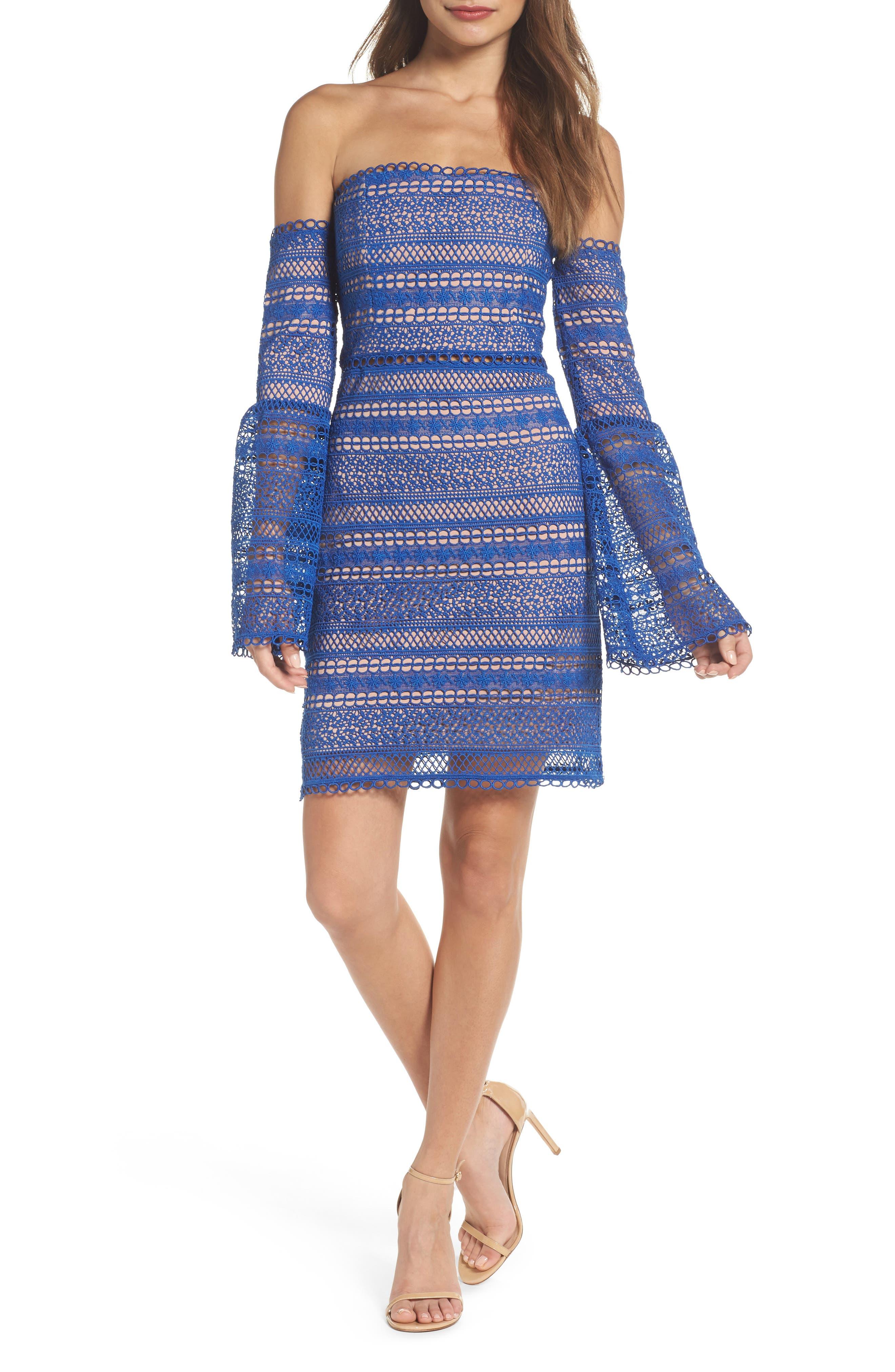 Catalina Eyelet Off the Shoulder Dress,                         Main,                         color,