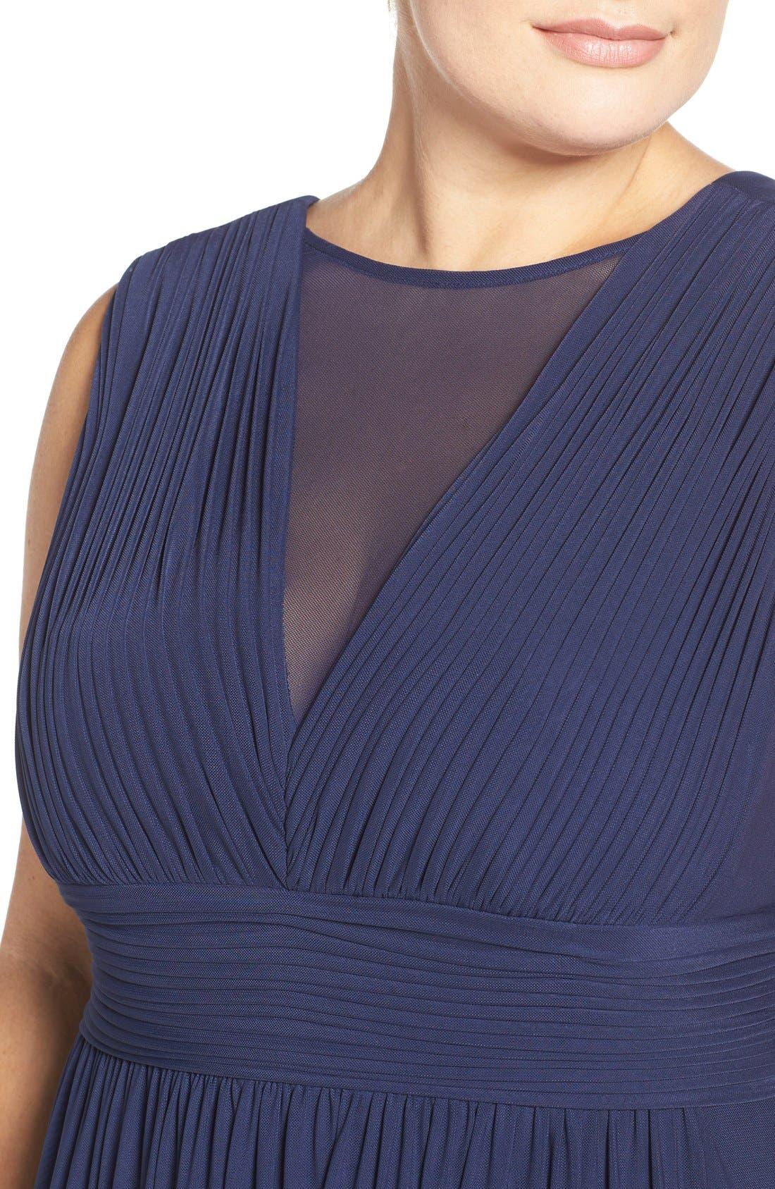 Illusion Neck A-Line Gown,                             Alternate thumbnail 20, color,