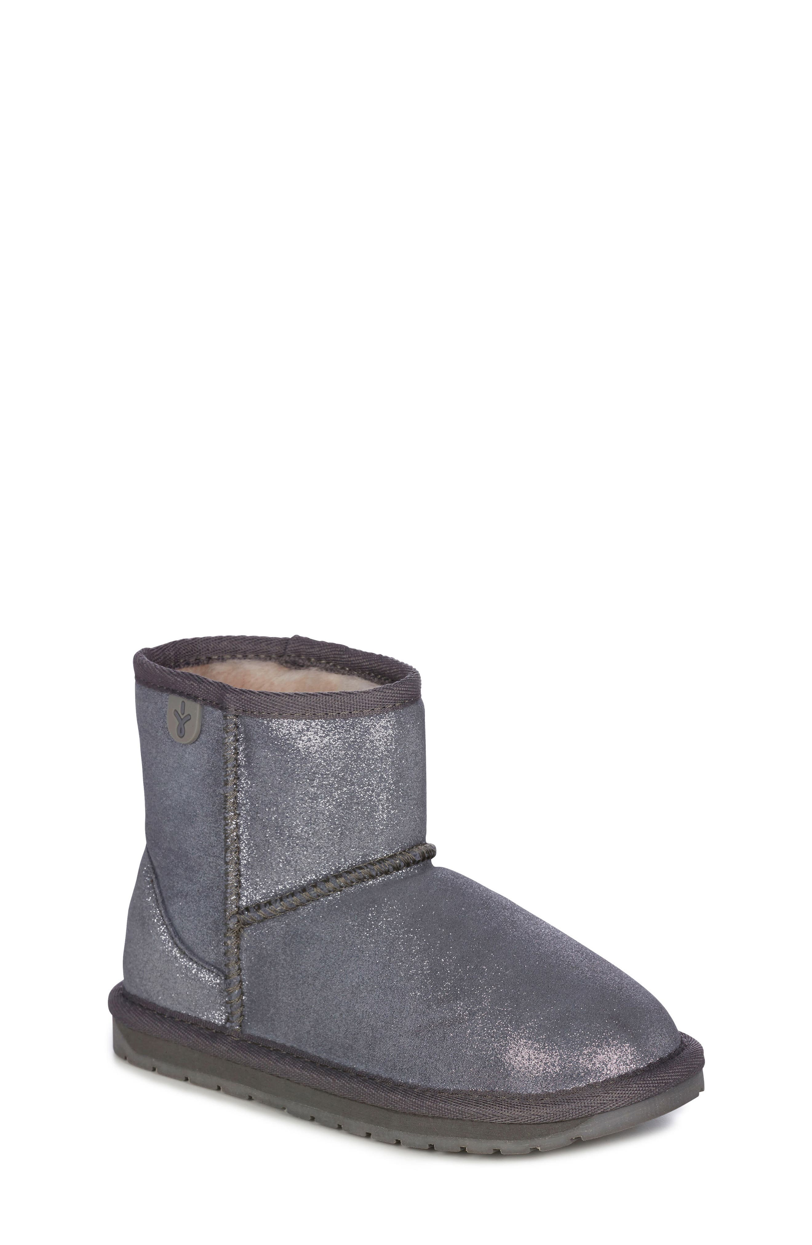 Wallaby Boot,                         Main,                         color, METALLIC CHARCOAL