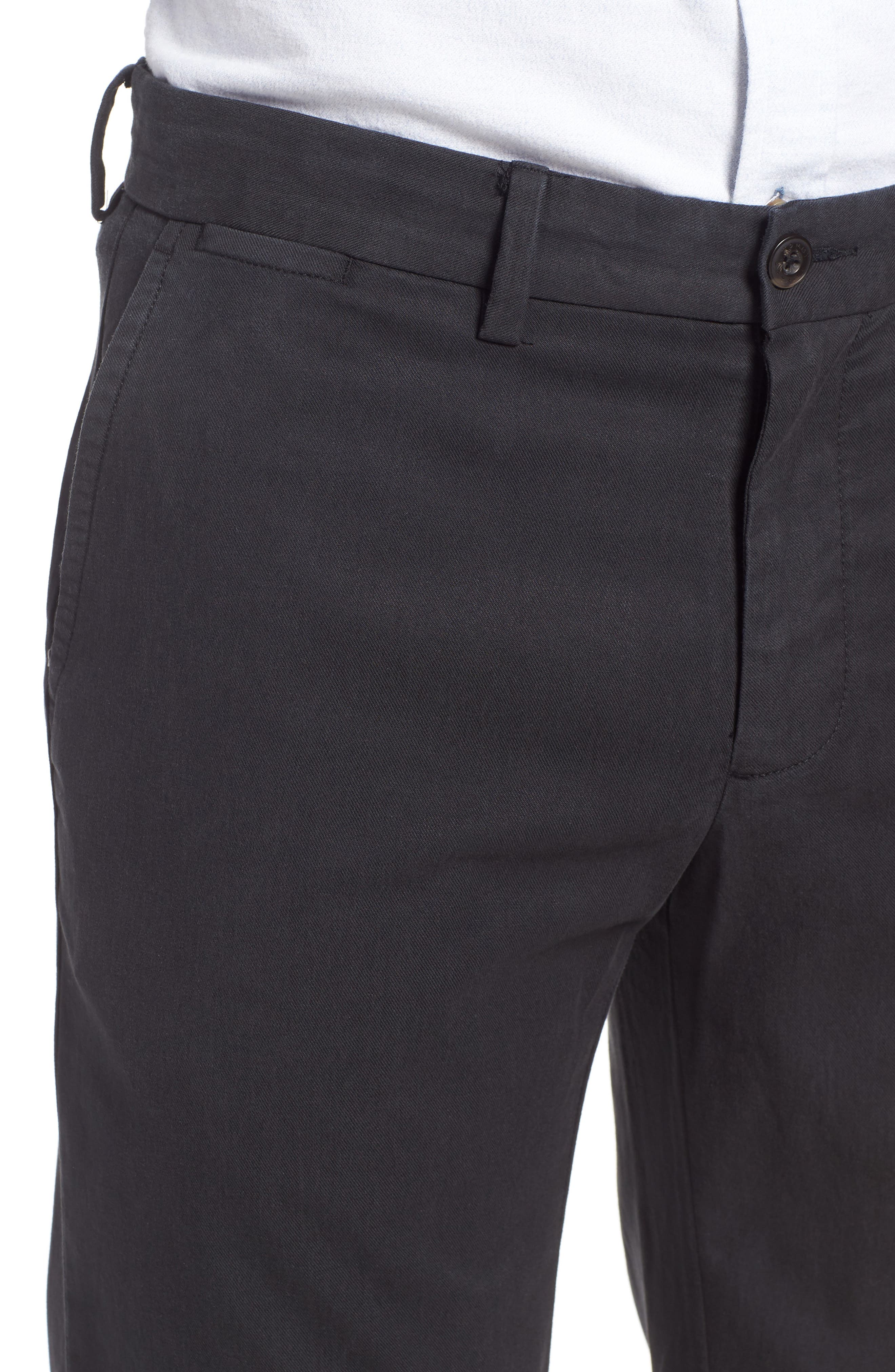 Offshore Flat Front Pants,                             Alternate thumbnail 4, color,                             001