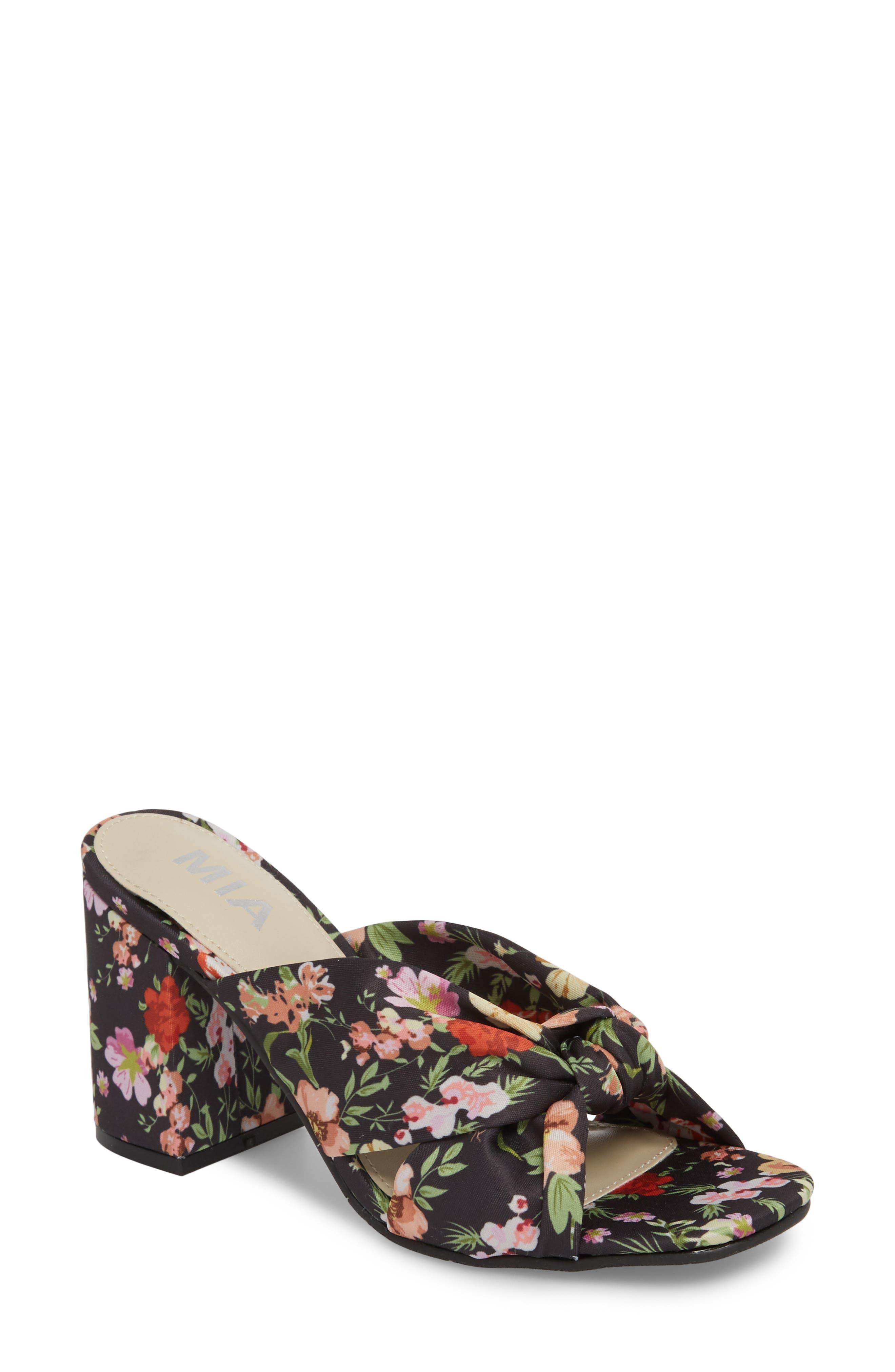 Collette Floral Sandal,                             Main thumbnail 1, color,                             001