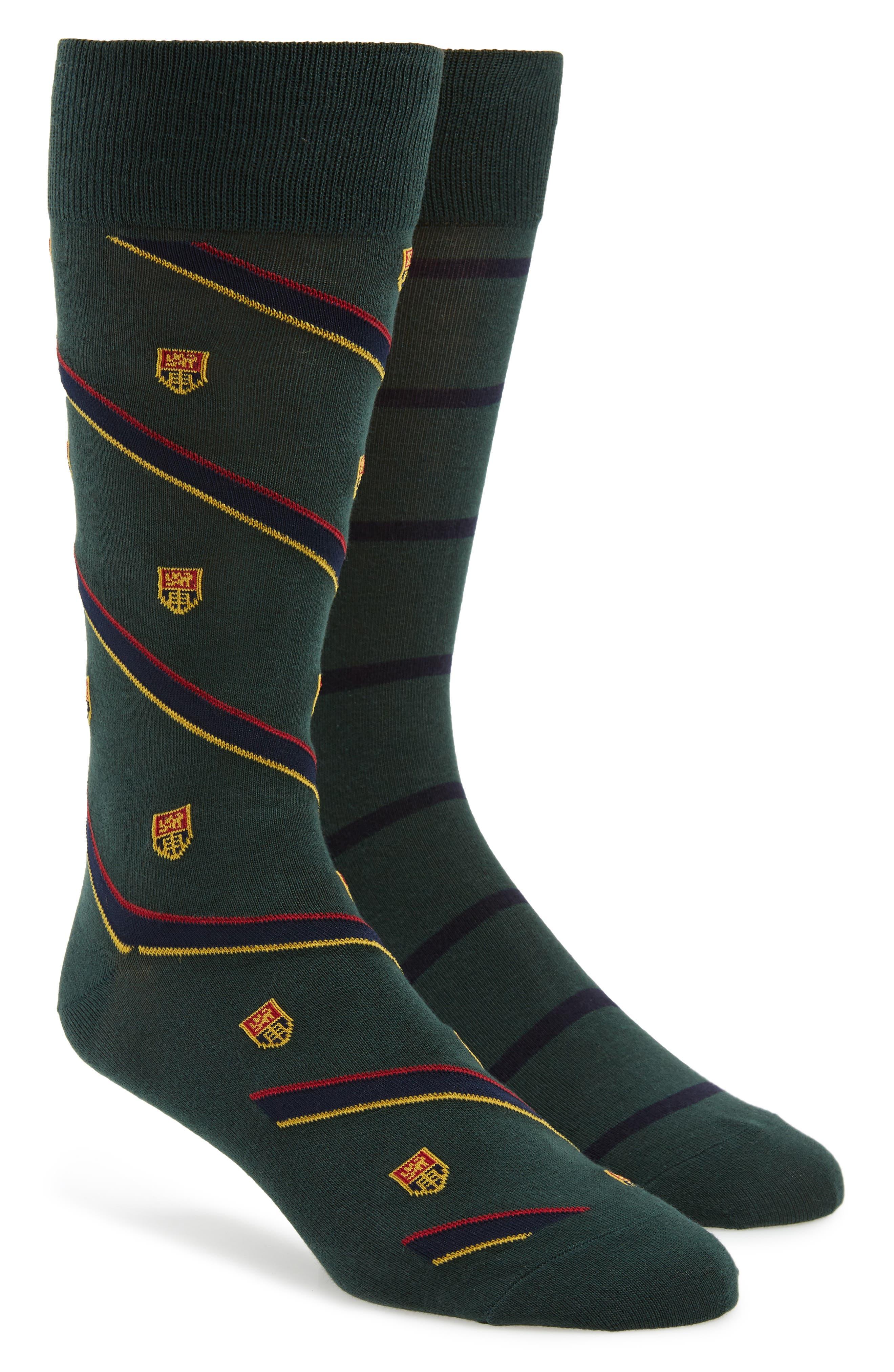 Ralph Lauren Heraldic Club 2-Pack Socks,                             Main thumbnail 1, color,                             HUNTER