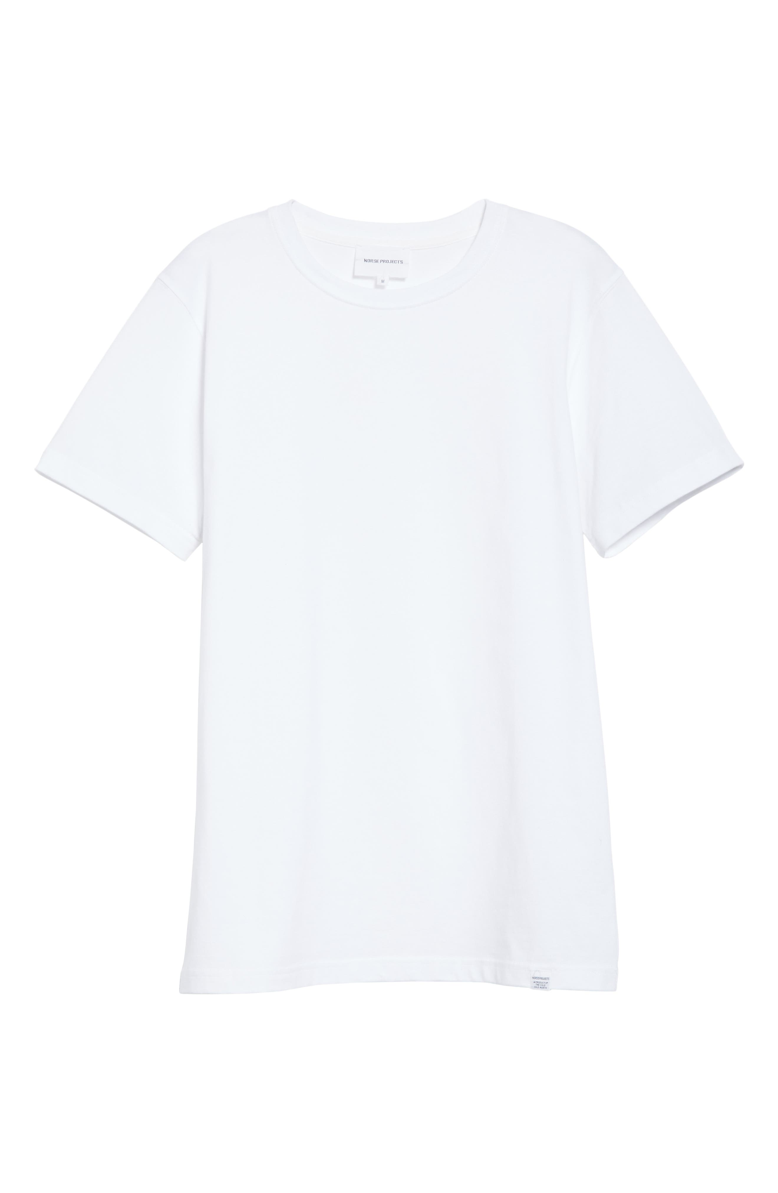 Niels Crewneck T-Shirt,                             Alternate thumbnail 6, color,                             WHITE