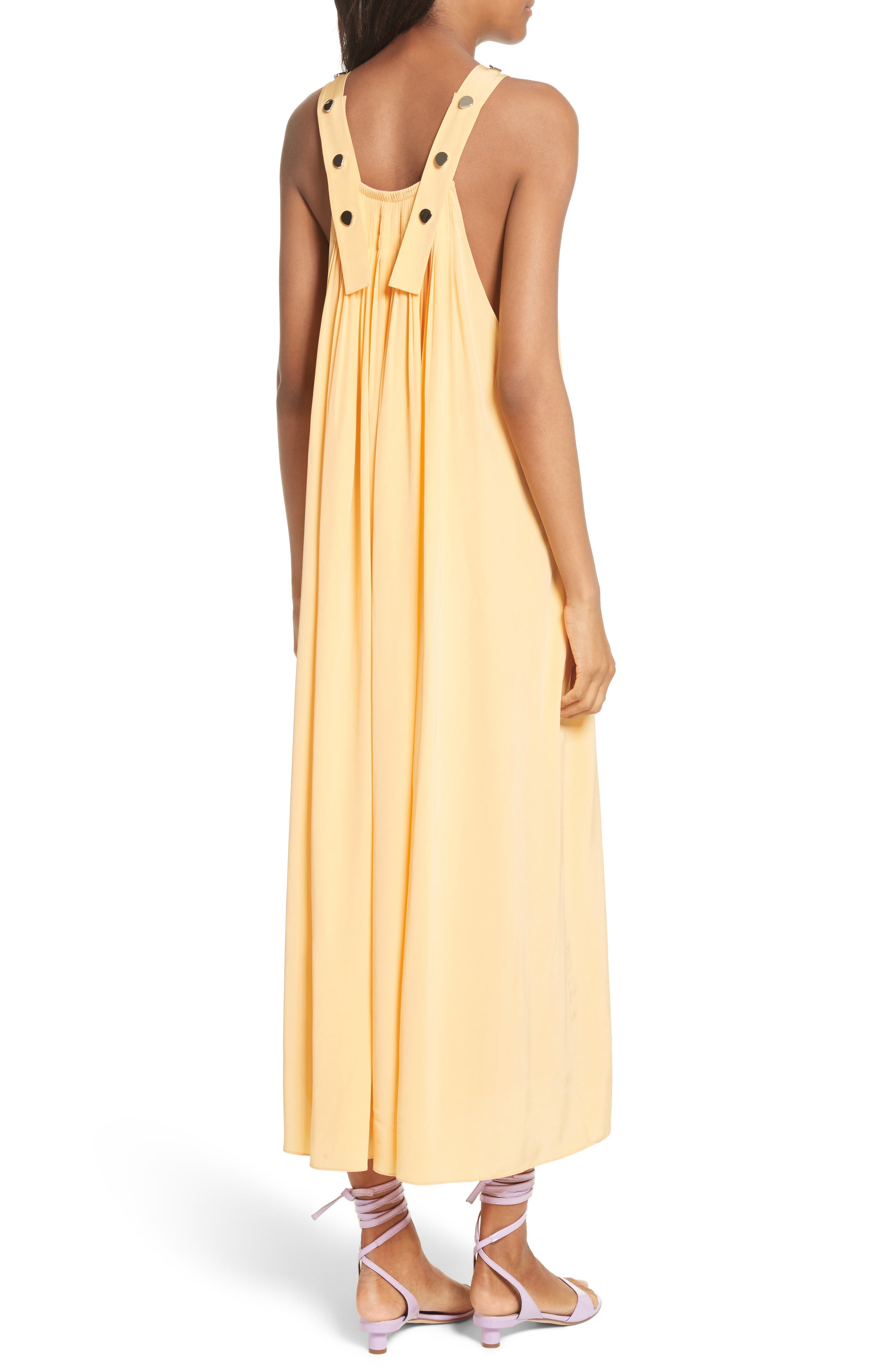 Silk Overall Dress,                             Alternate thumbnail 2, color,                             829
