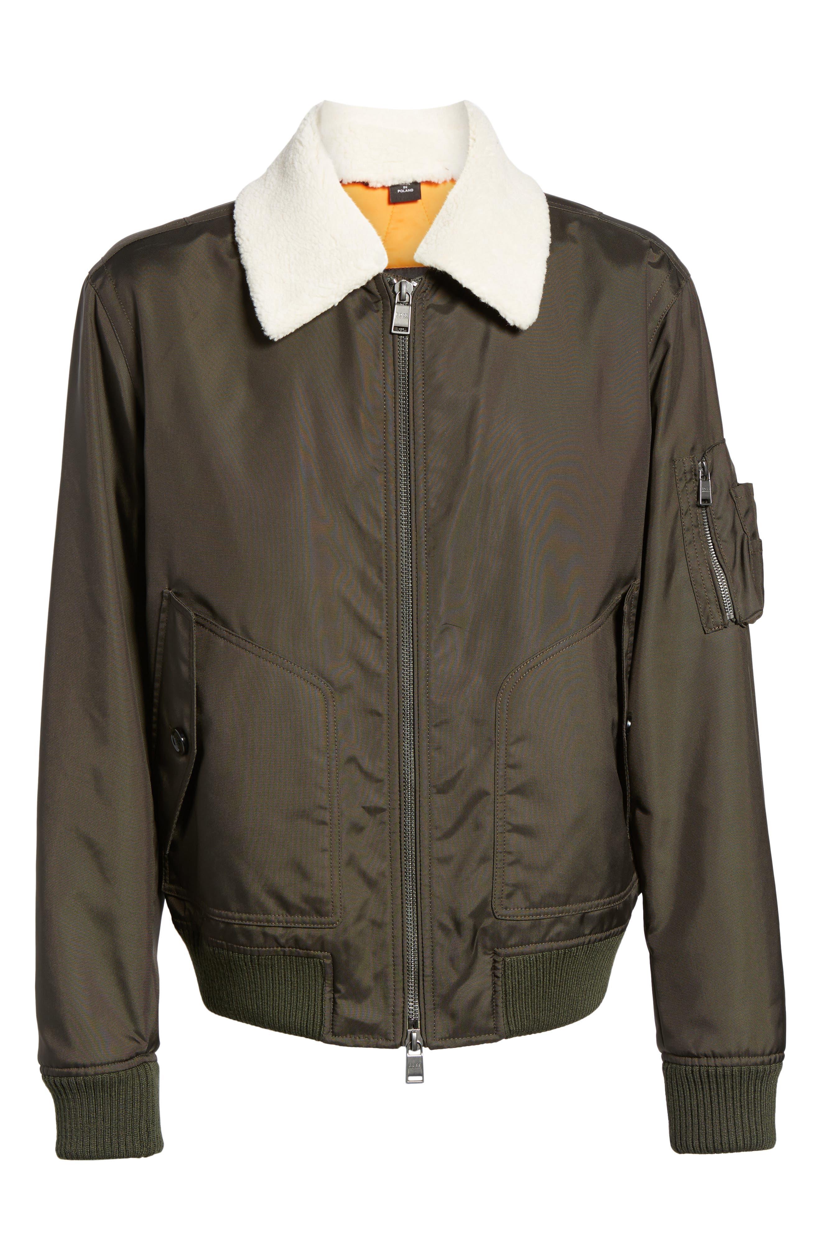 Cobra Aviator Jacket with Faux Fur Collar,                             Alternate thumbnail 5, color,                             342