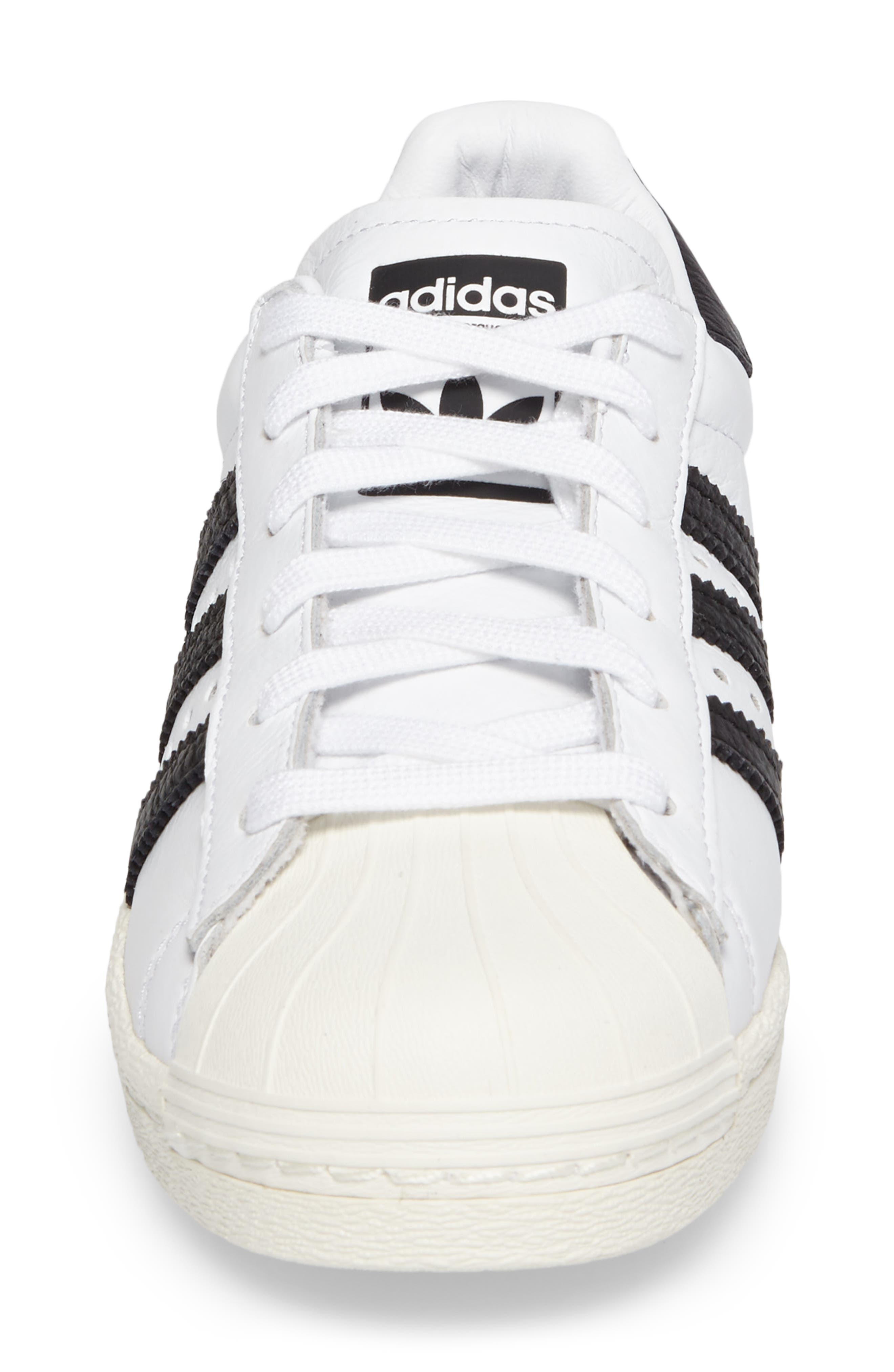 Superstar Boost Sneaker,                             Alternate thumbnail 4, color,                             100