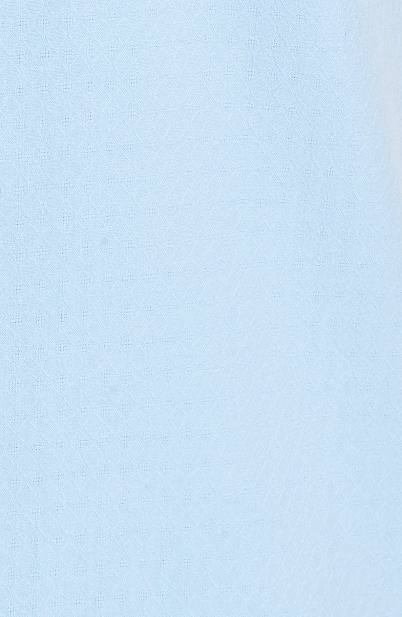 Oasis Jacquard Silk Sport Shirt,                             Alternate thumbnail 5, color,                             400