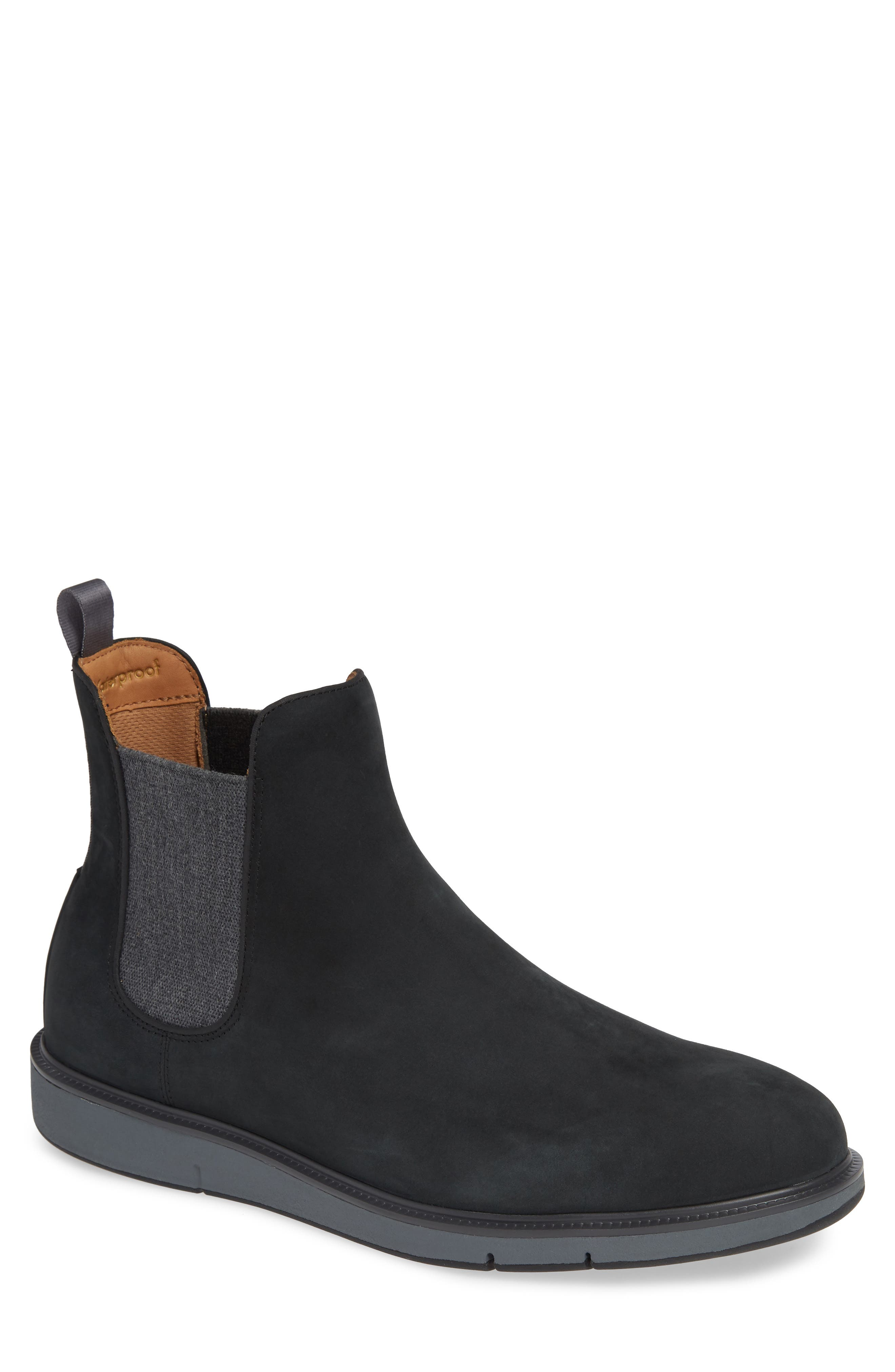 Motion Waterproof Chelsea Boot,                             Main thumbnail 1, color,                             BLACK/ GREY