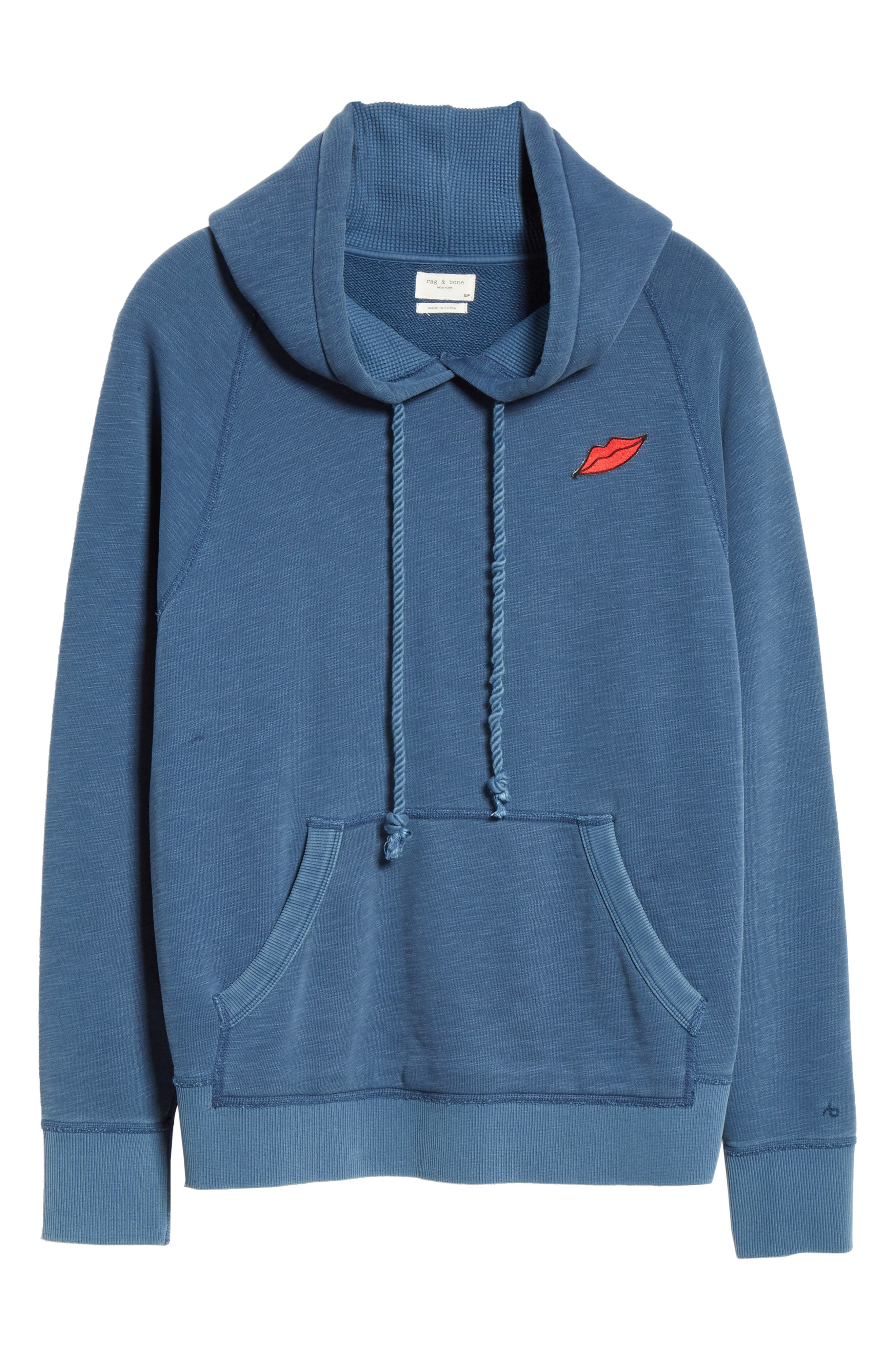 Racer Hoodie,                             Alternate thumbnail 6, color,                             WASHED NAVY