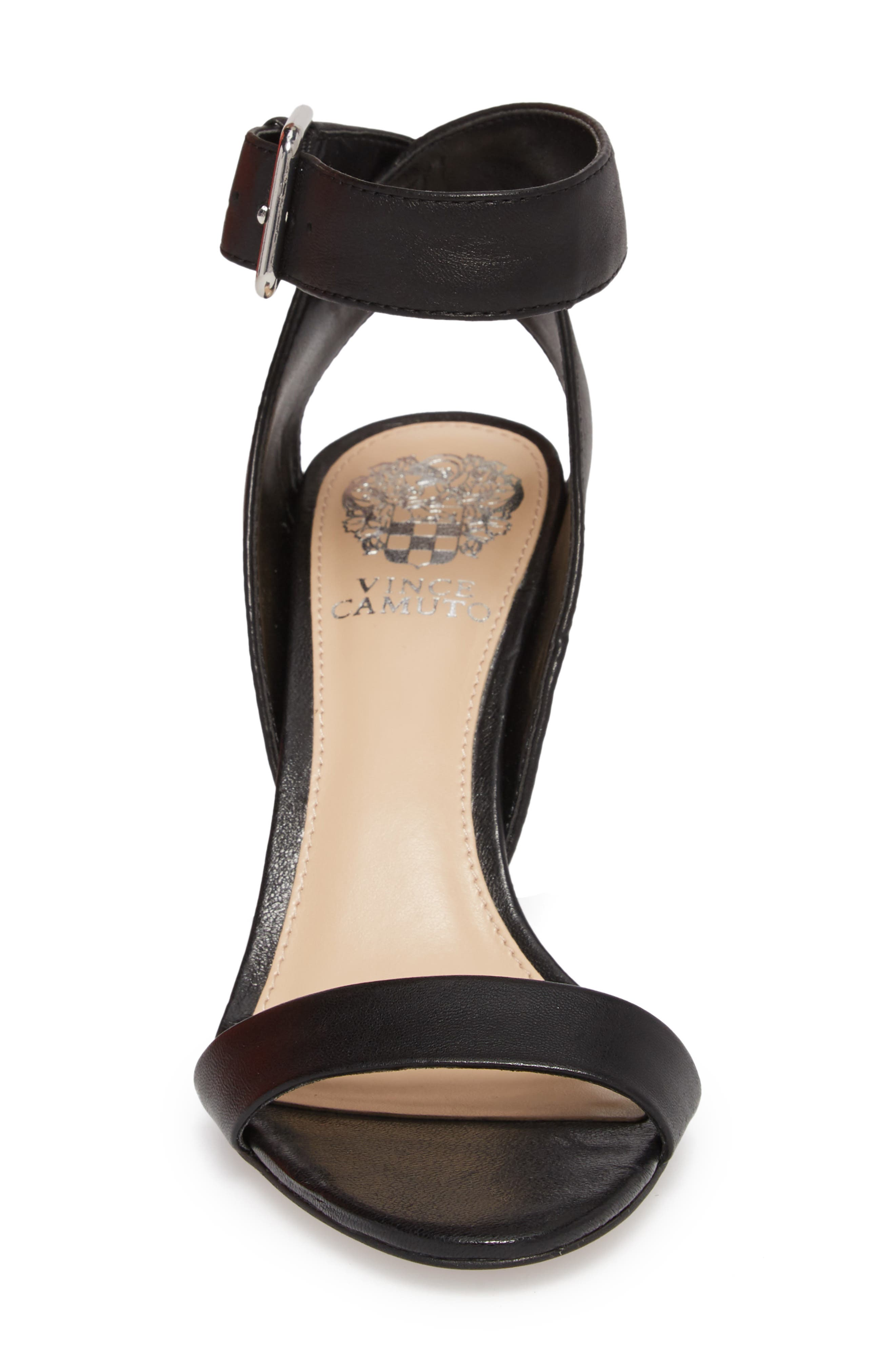 Caitriona Sandal,                             Alternate thumbnail 4, color,                             BLACK LEATHER