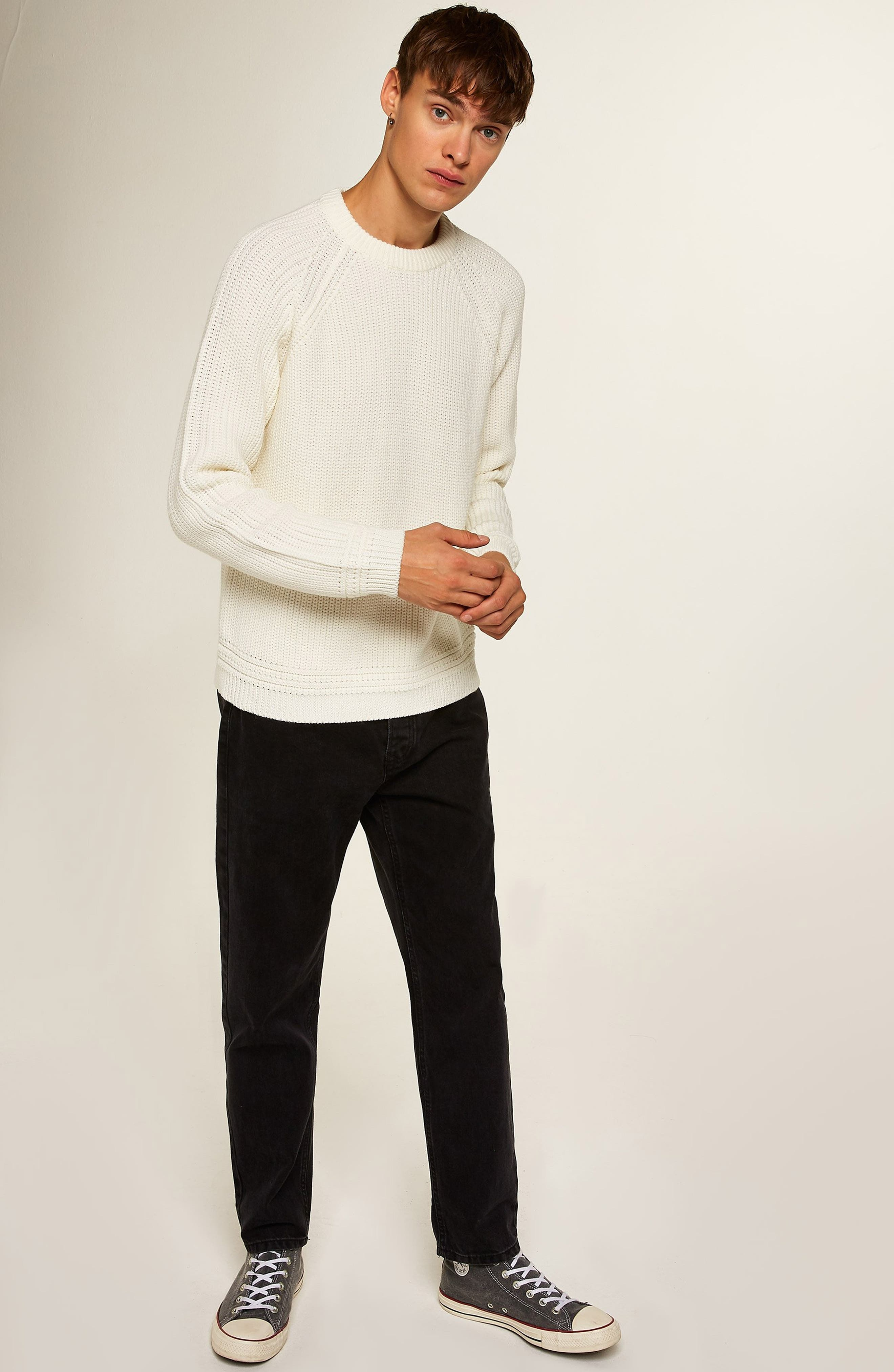 Ribbed Sweater,                             Alternate thumbnail 5, color,                             900