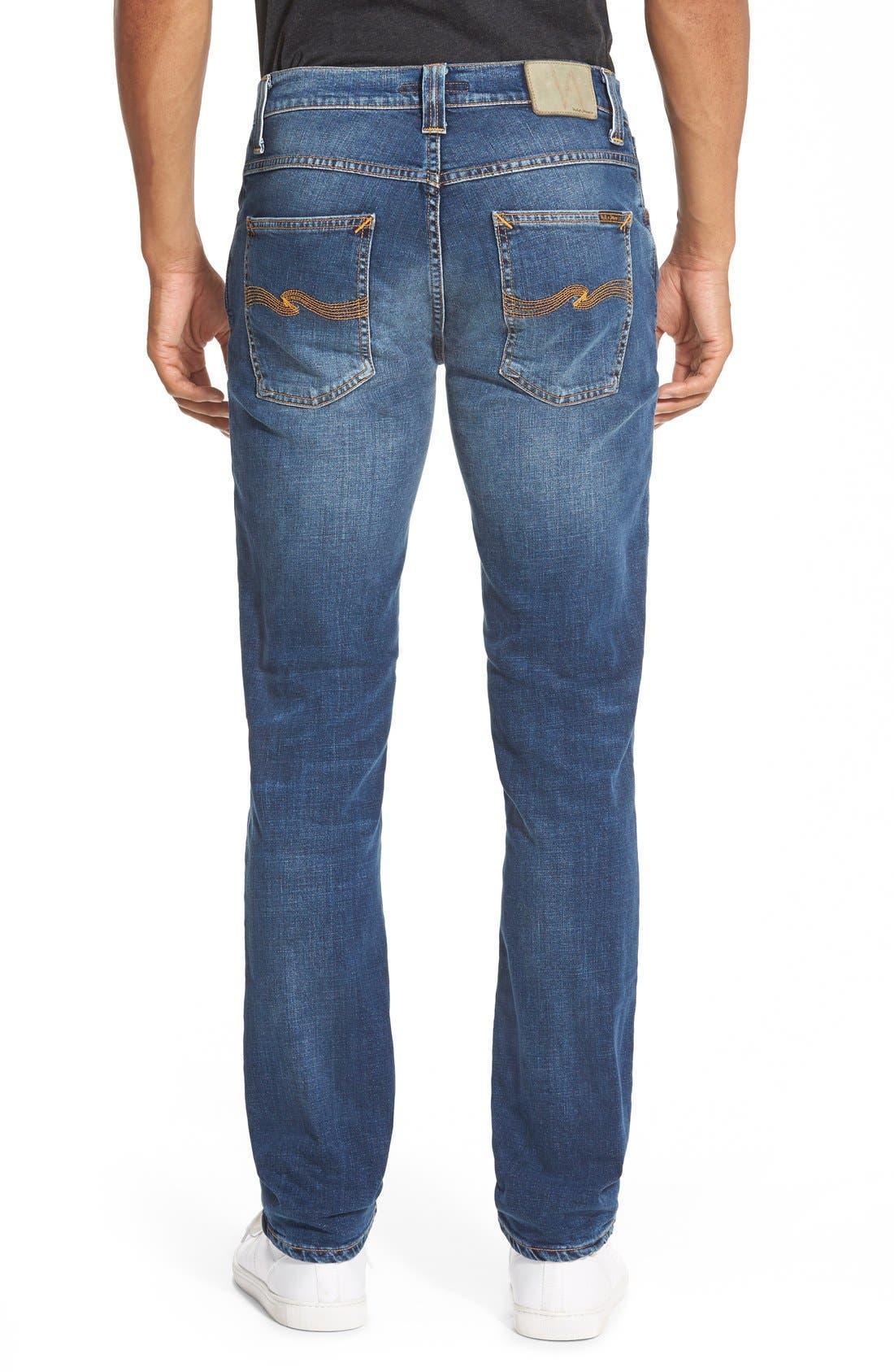NUDIE JEANS,                             'Grim Tim' Slim Fit Stretch Organic Cotton Jeans,                             Alternate thumbnail 3, color,                             462