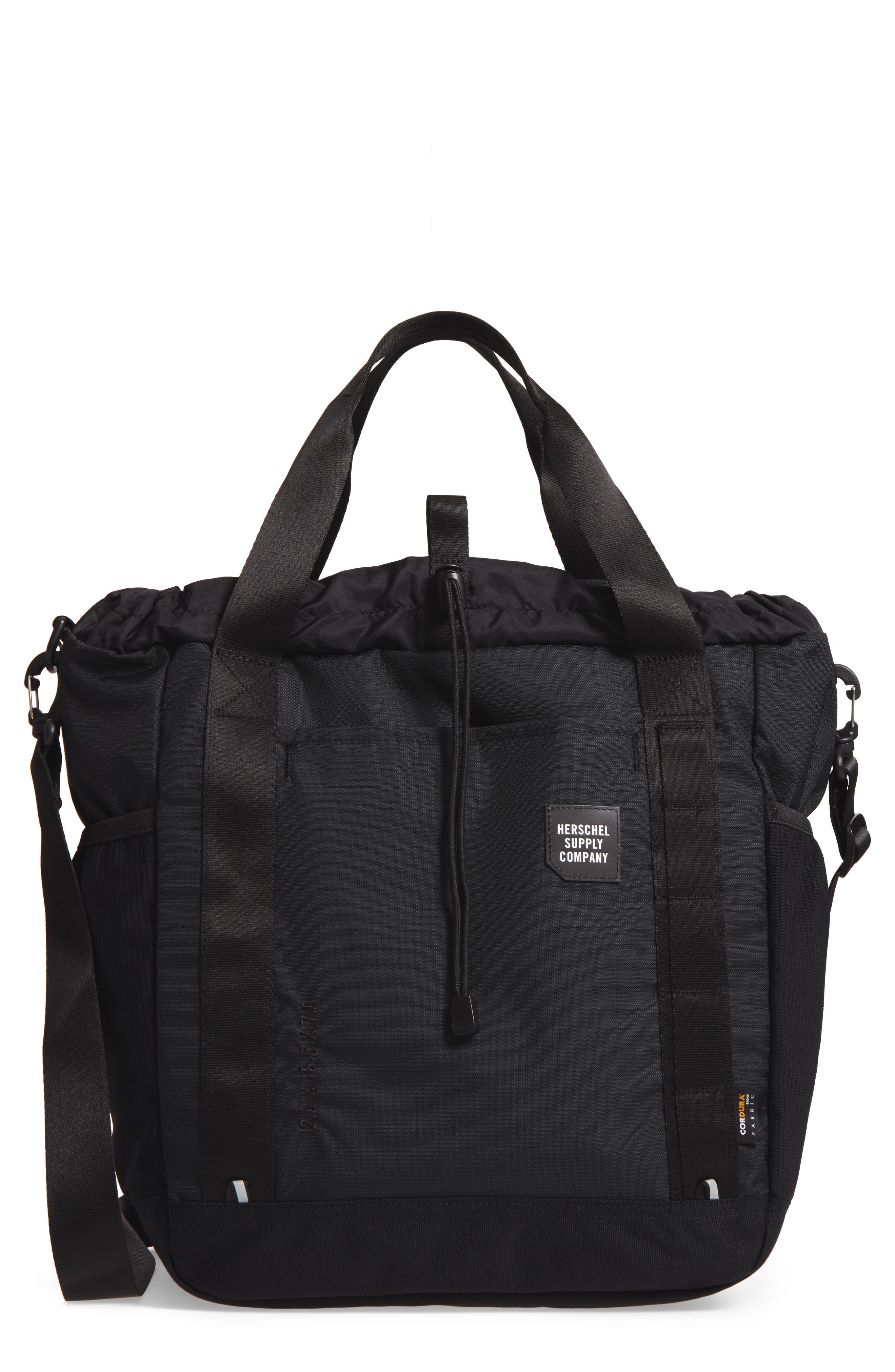 Barnes Trail Tote Bag,                         Main,                         color, BLACK