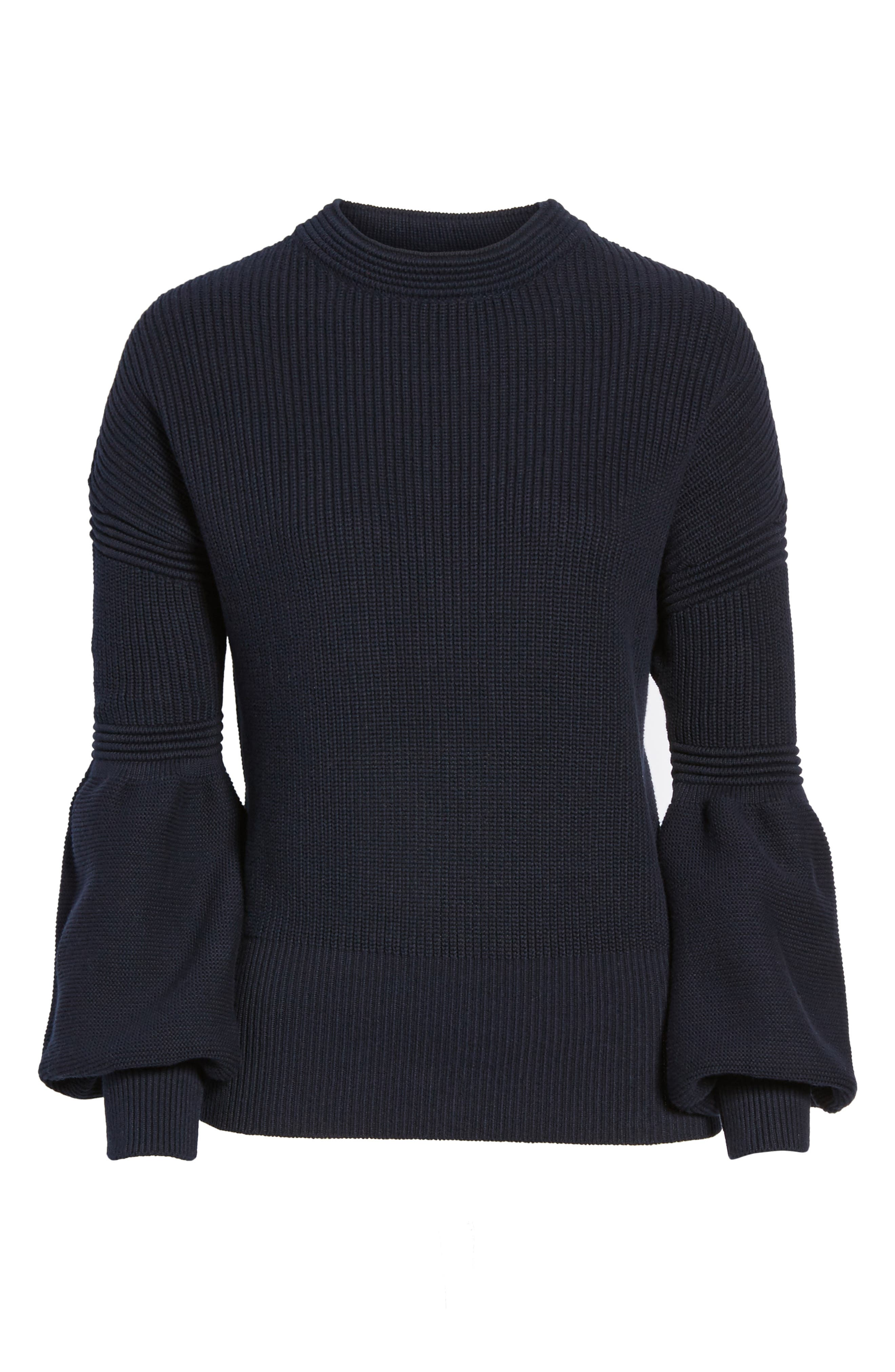 Sculpture Puff Sleeve Sweater,                             Alternate thumbnail 6, color,                             410
