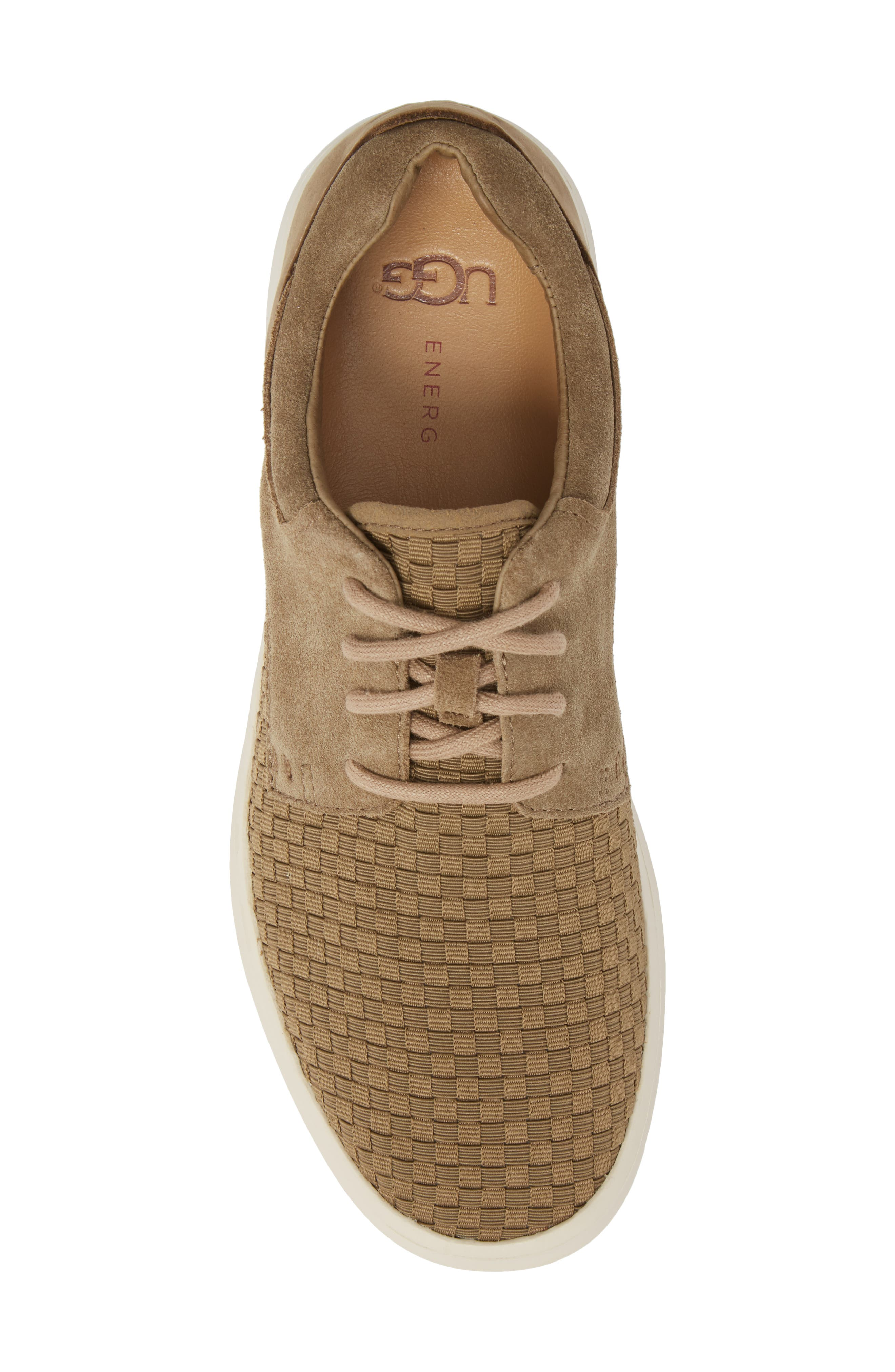 UGG<SUP>®</SUP>,                             'Hepner' Woven Sneaker,                             Alternate thumbnail 5, color,                             ANTILOPE LEATHER
