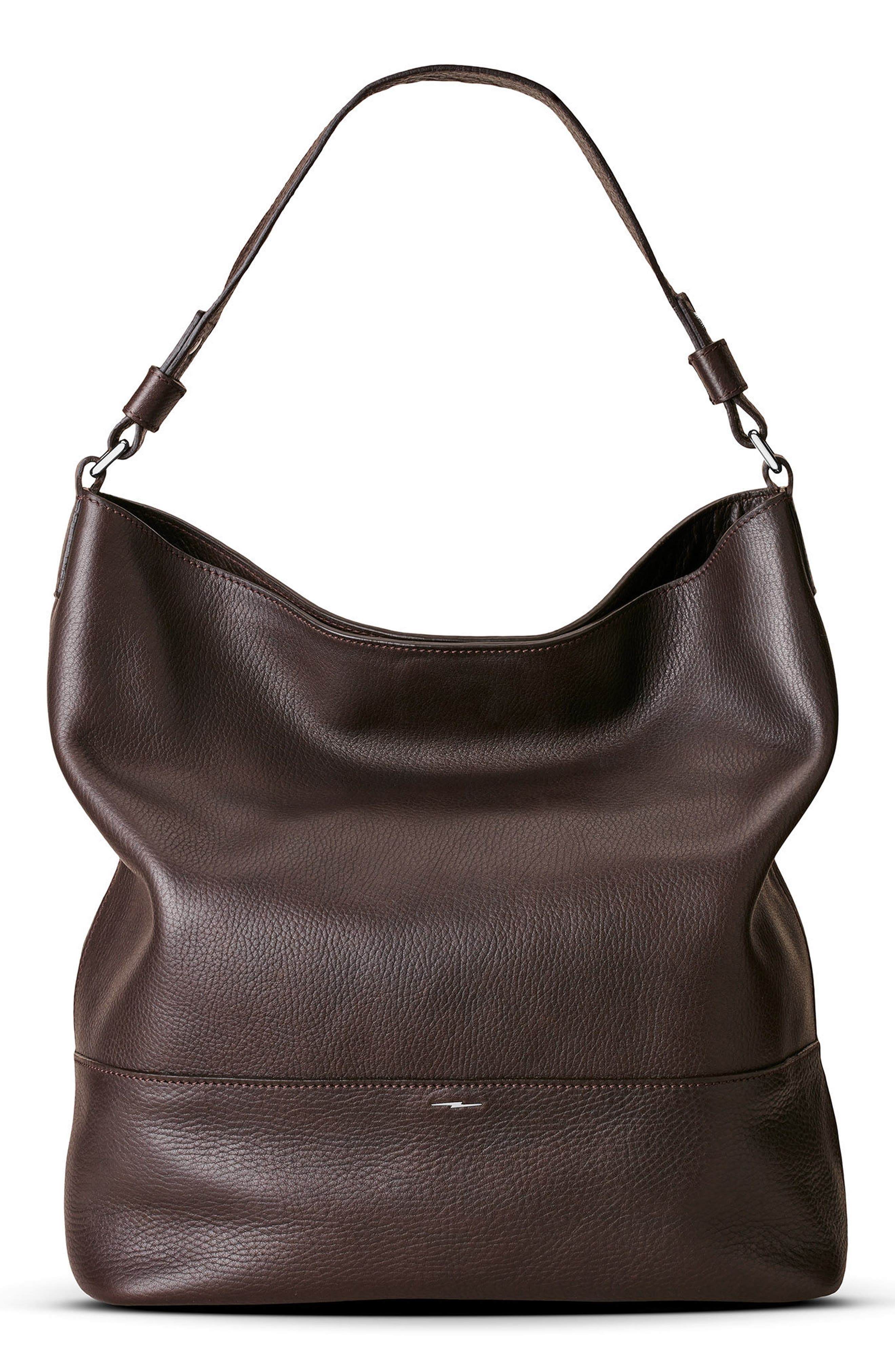 Relaxed Calfskin Leather Hobo Bag,                             Alternate thumbnail 9, color,                             240