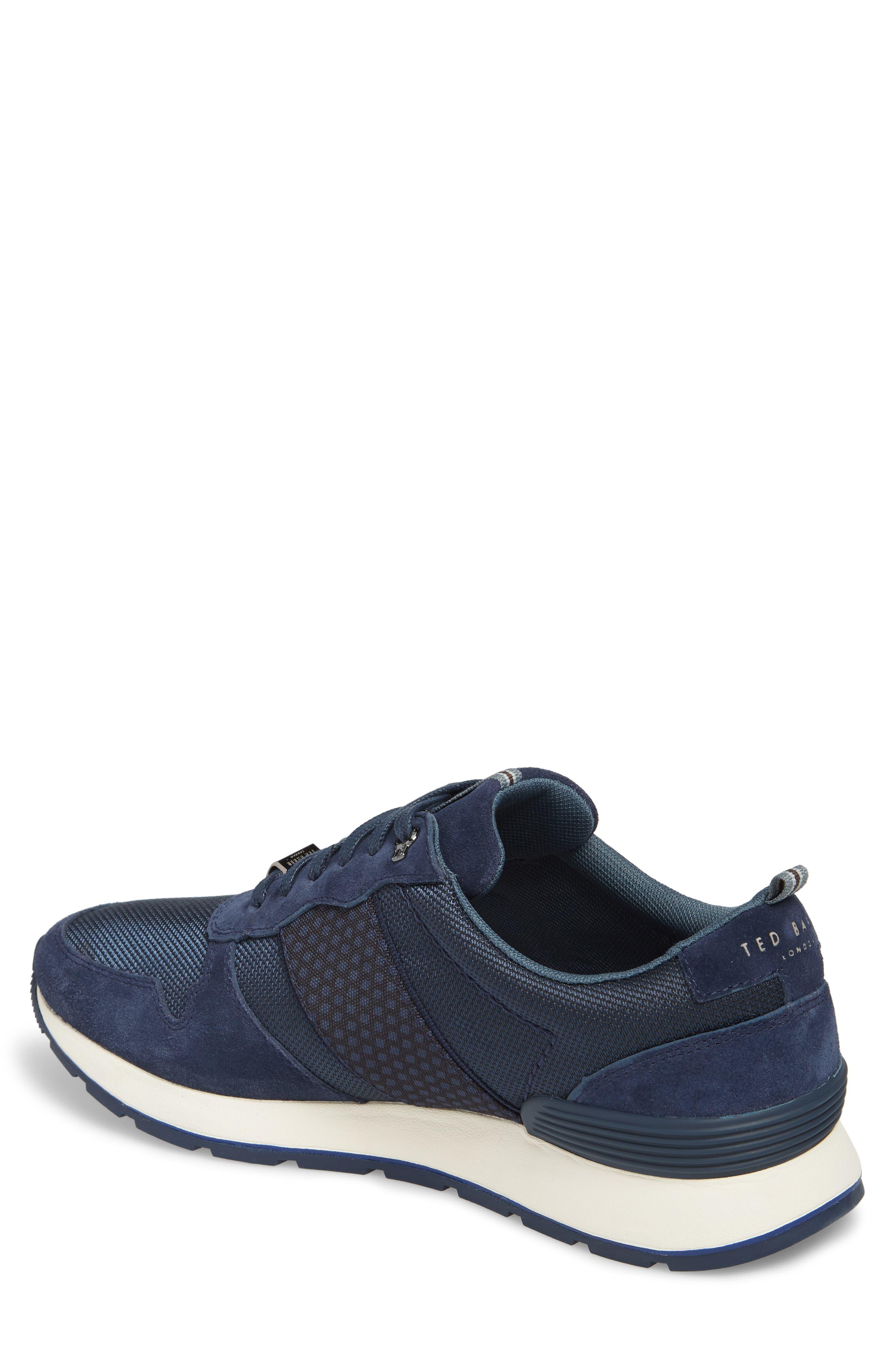 Hebey Lace-Up Sneaker,                             Alternate thumbnail 2, color,                             DARK BLUE TEXTILE