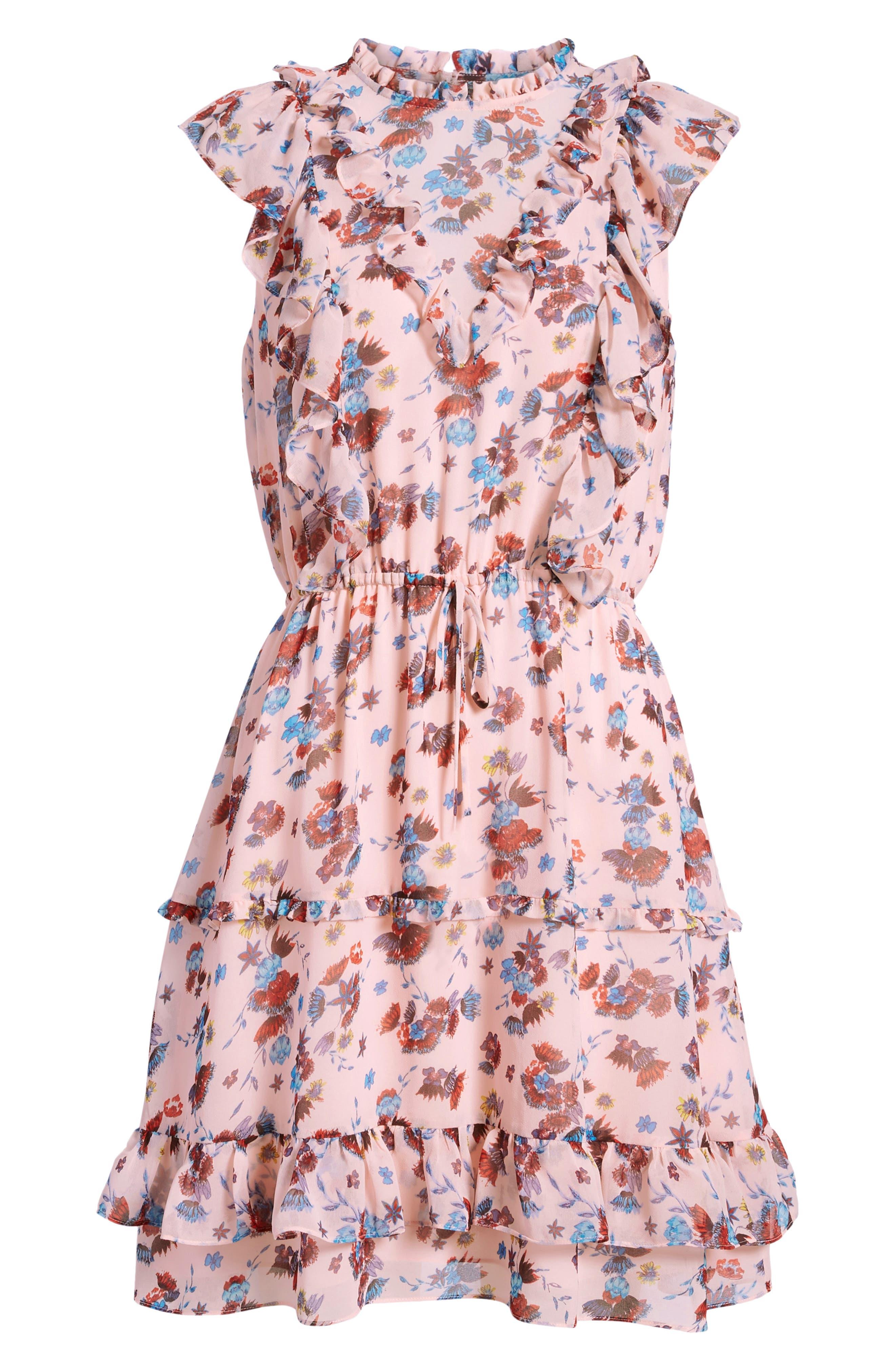 Kika Dress,                             Alternate thumbnail 8, color,                             PINK MULTI