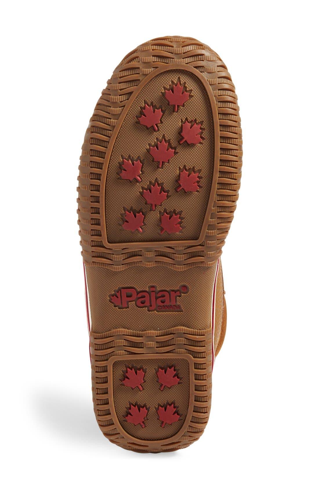 PAJAR,                             Trooper Waterproof Snow Boot with Faux Fur Lining,                             Alternate thumbnail 4, color,                             COGNAC