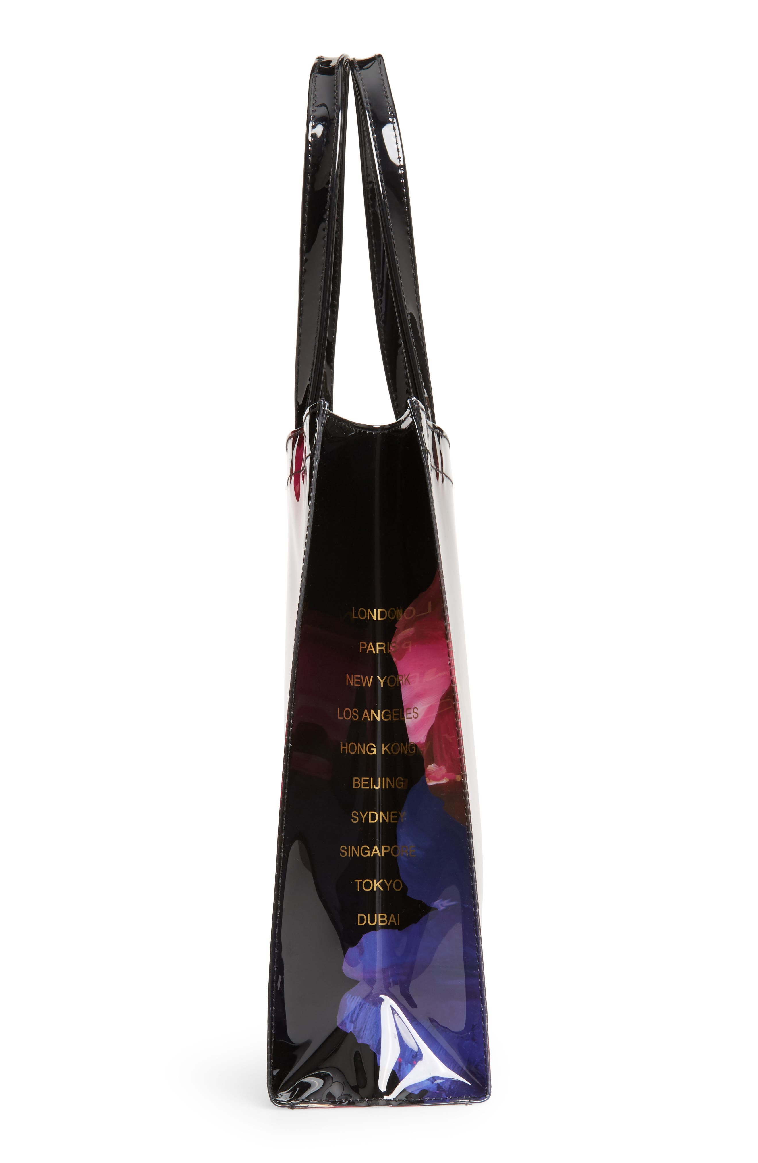 Large Icon - Impressionist Bloom Tote,                             Alternate thumbnail 5, color,                             001