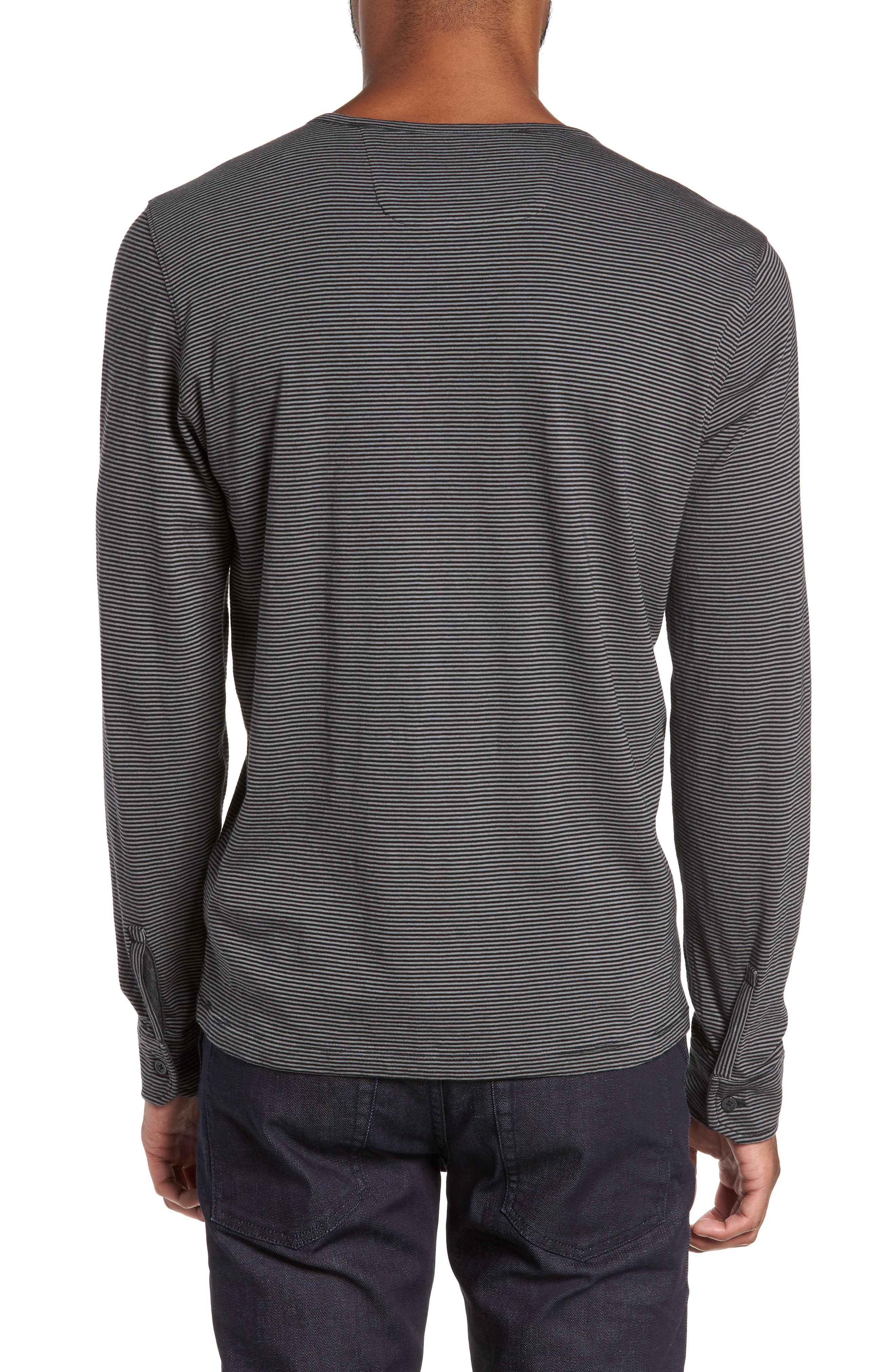 Graham Stripe Henley,                             Alternate thumbnail 2, color,                             001
