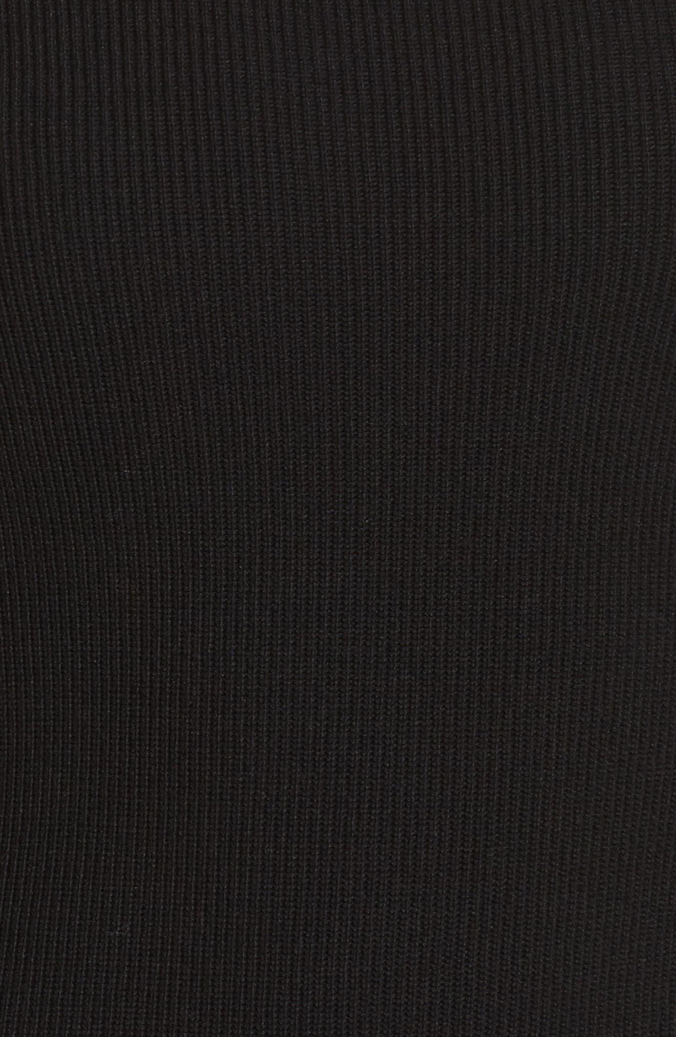 Off the Shoulder Midi Sweater Dress,                             Alternate thumbnail 5, color,                             001