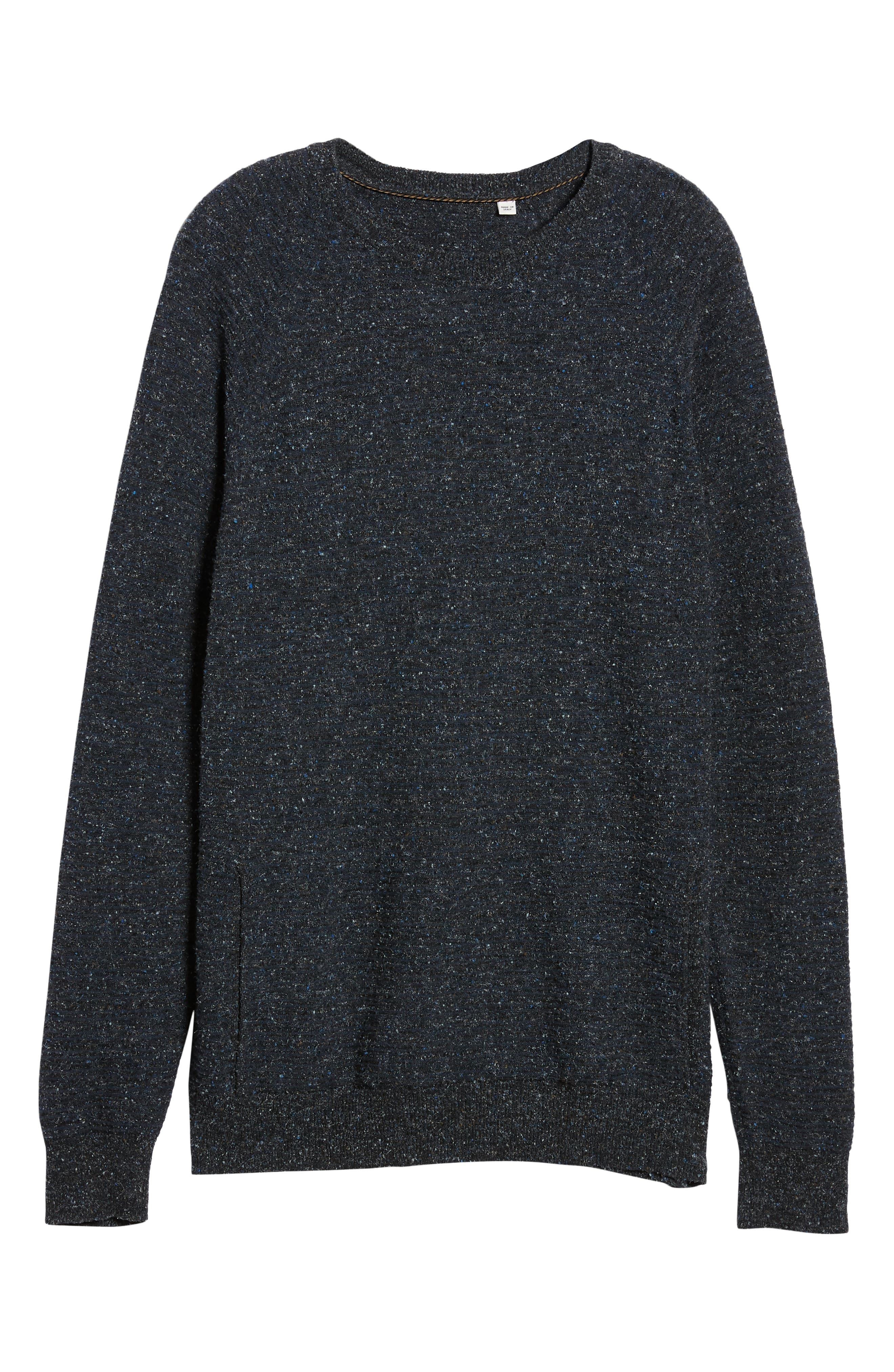 Speckle Stripe Sweater,                             Alternate thumbnail 6, color,                             NAVY/ CHARCOAL