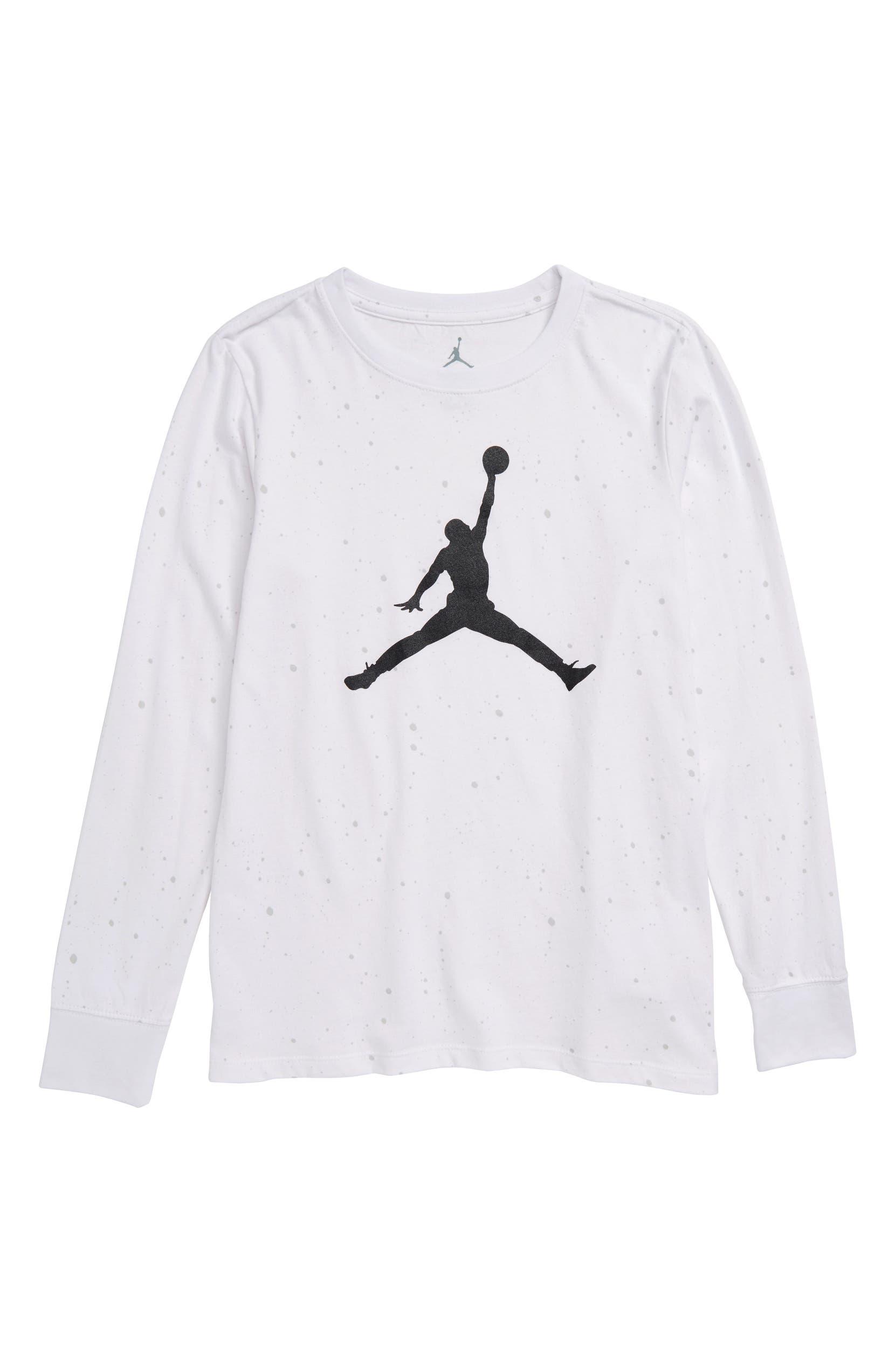 5bd9ffce51c616 Jordan Jumpman Speckle Cotton T-Shirt (Big Boys)