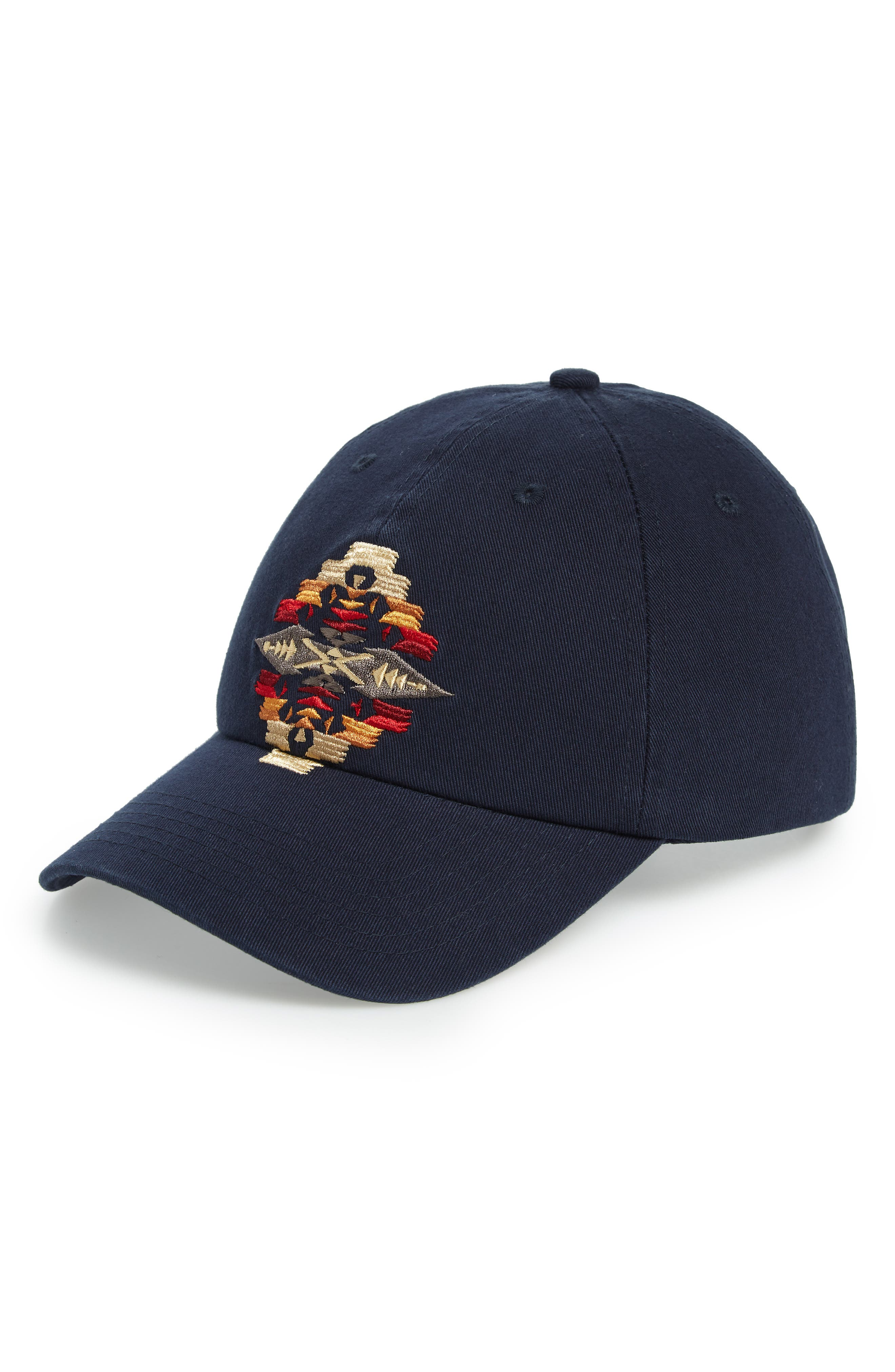 Tucson Embroidered Cap,                         Main,                         color, NAVY