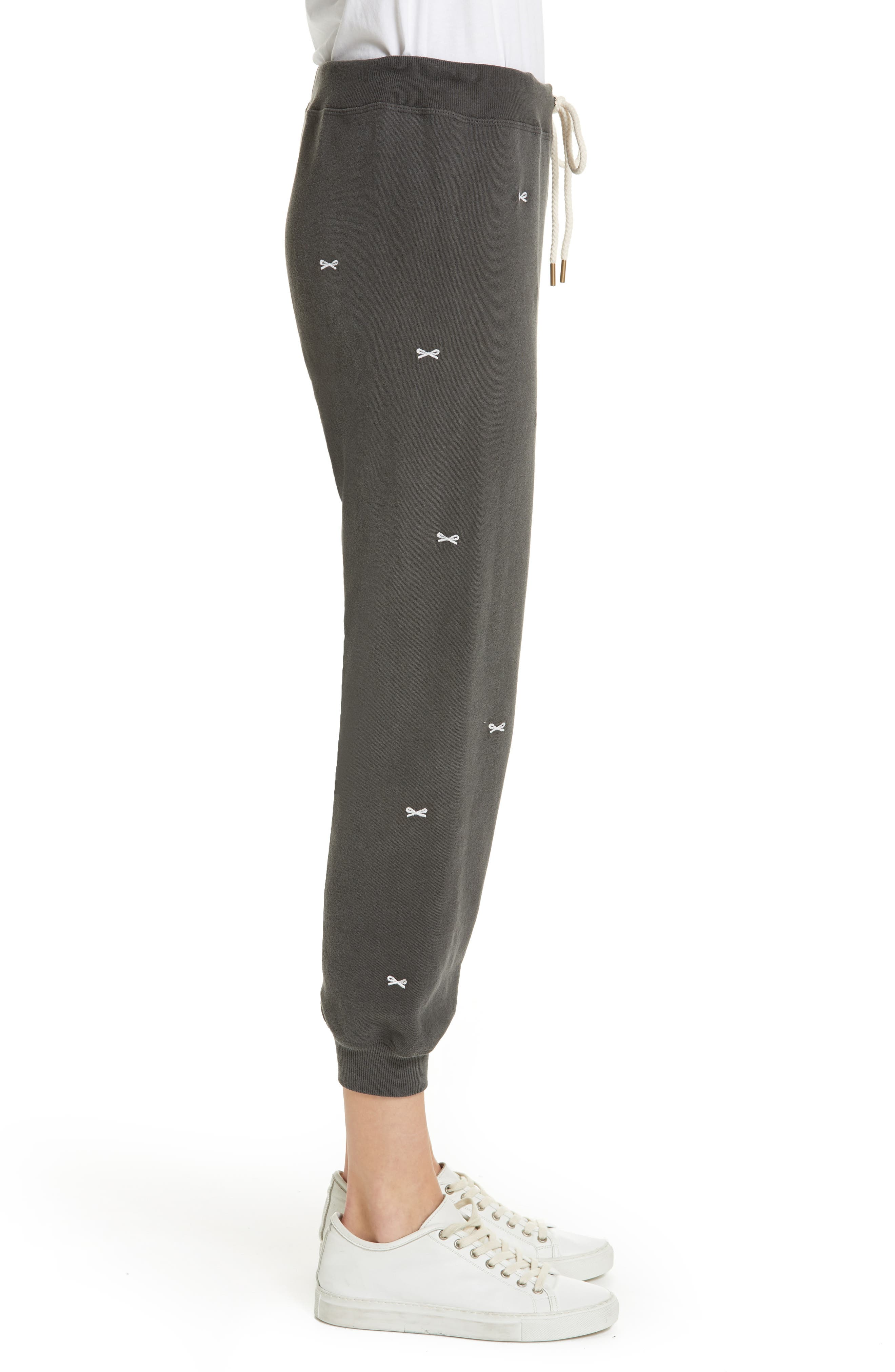 The Cropped Sweatpants,                             Alternate thumbnail 3, color,                             WASHED BLACK/ WHITE