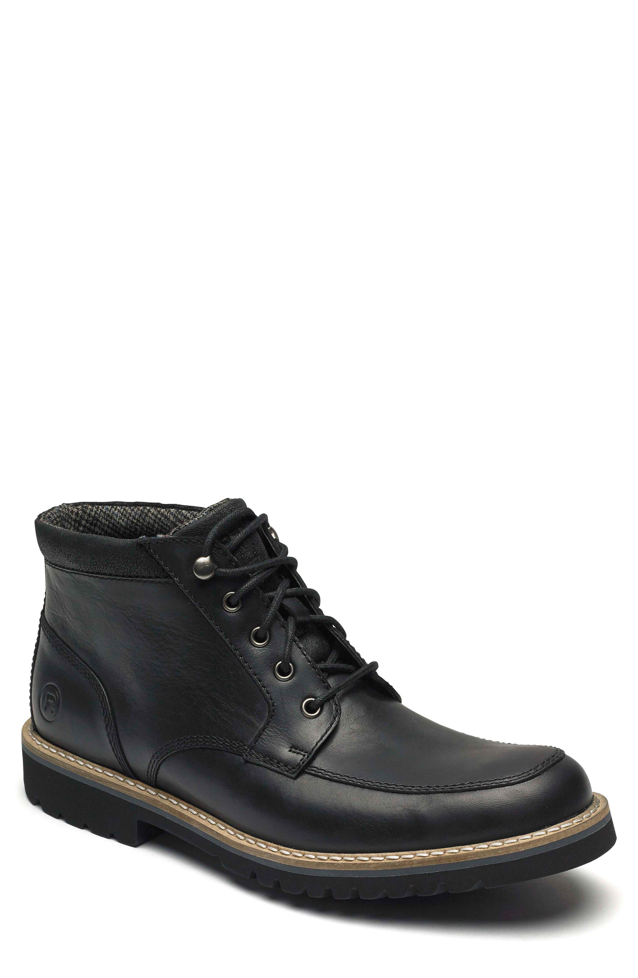 Rockport Marshall Moc Toe Boot- Black