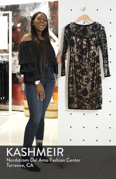 Vita Sequin Lace Sheath Dress, sales video thumbnail