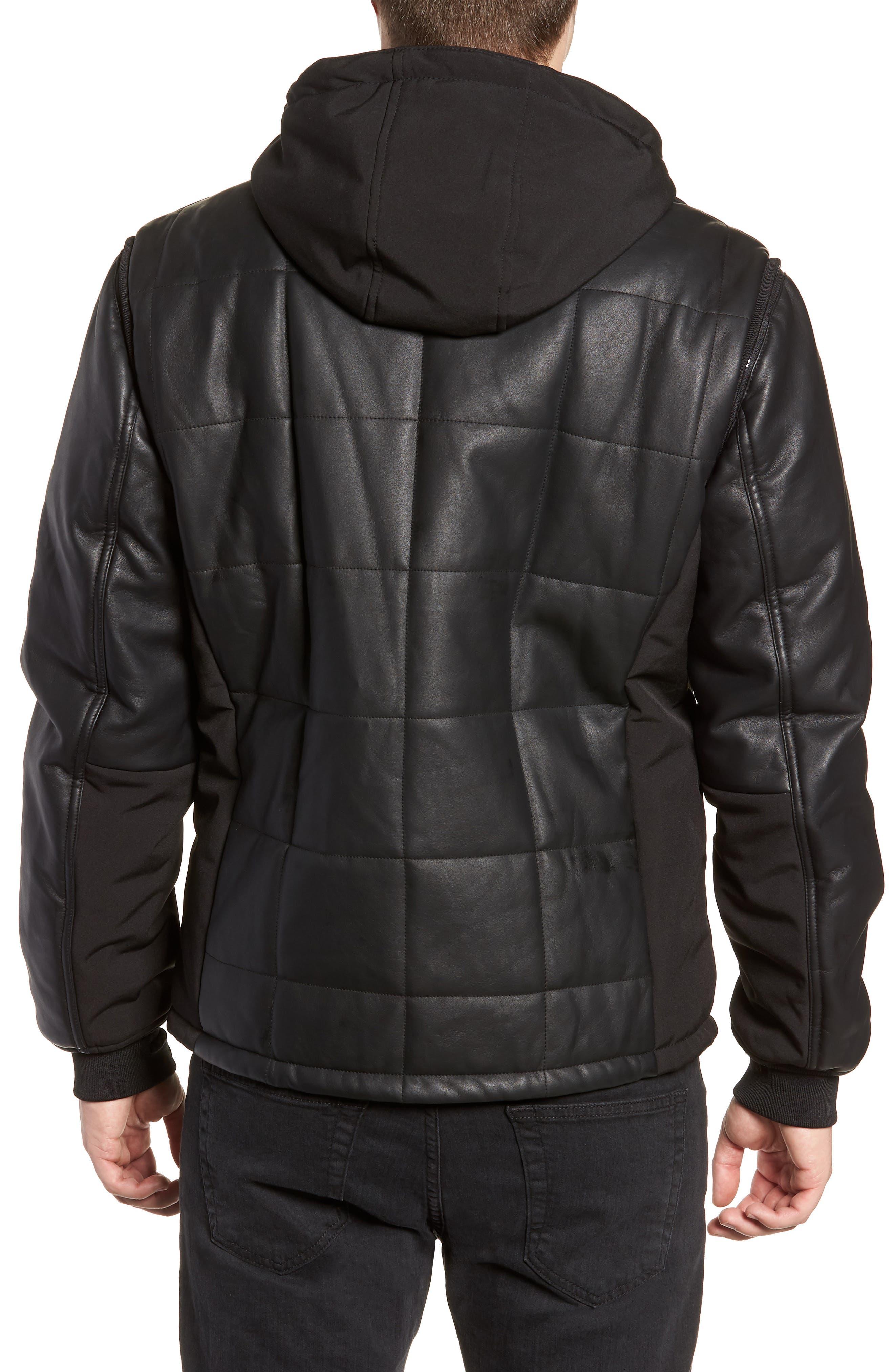 Quilted Convertible Vest/Jacket,                             Alternate thumbnail 2, color,                             BLACK
