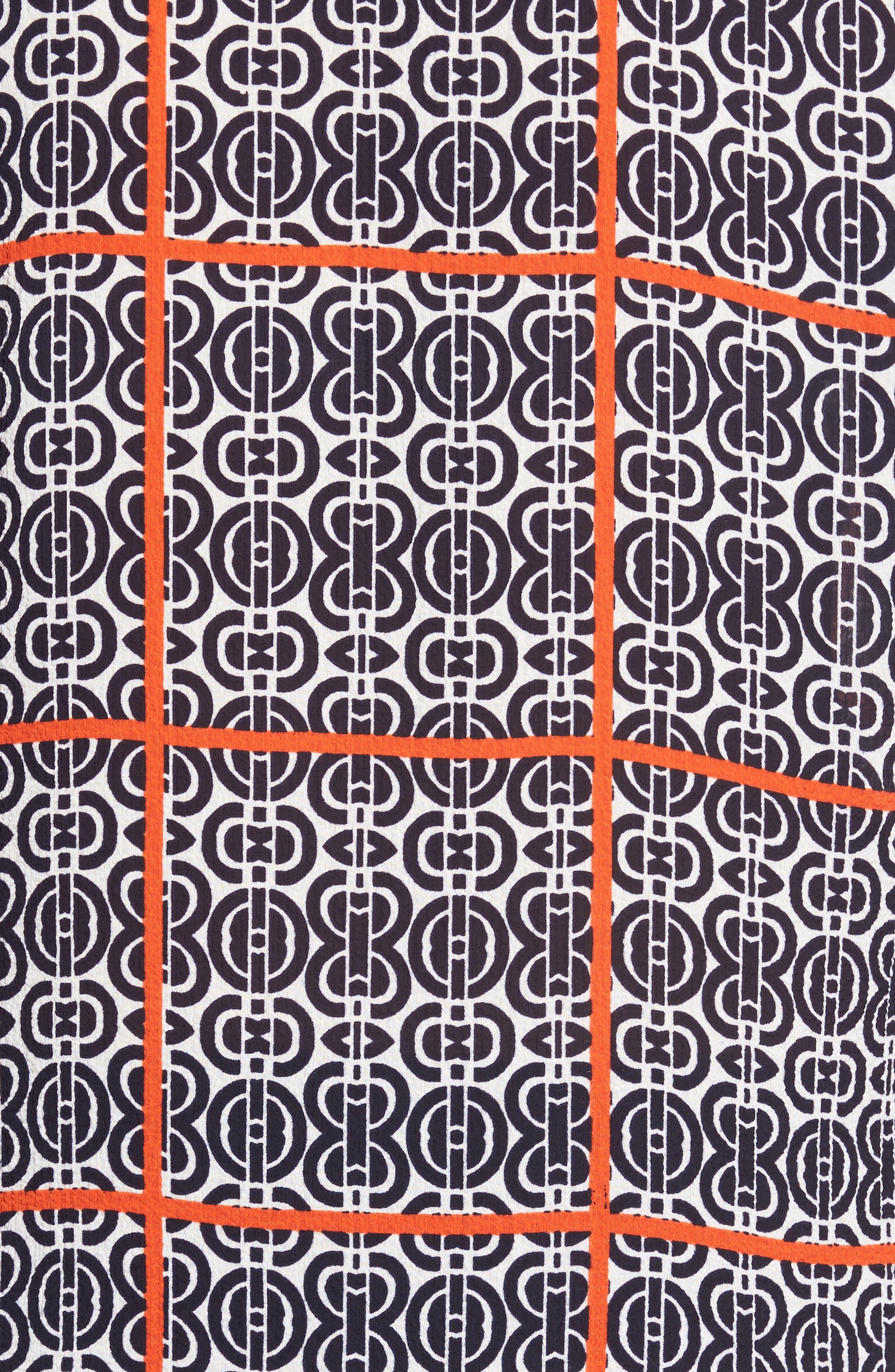 Printed Ruffle Sleeve Blouse,                             Alternate thumbnail 5, color,                             903