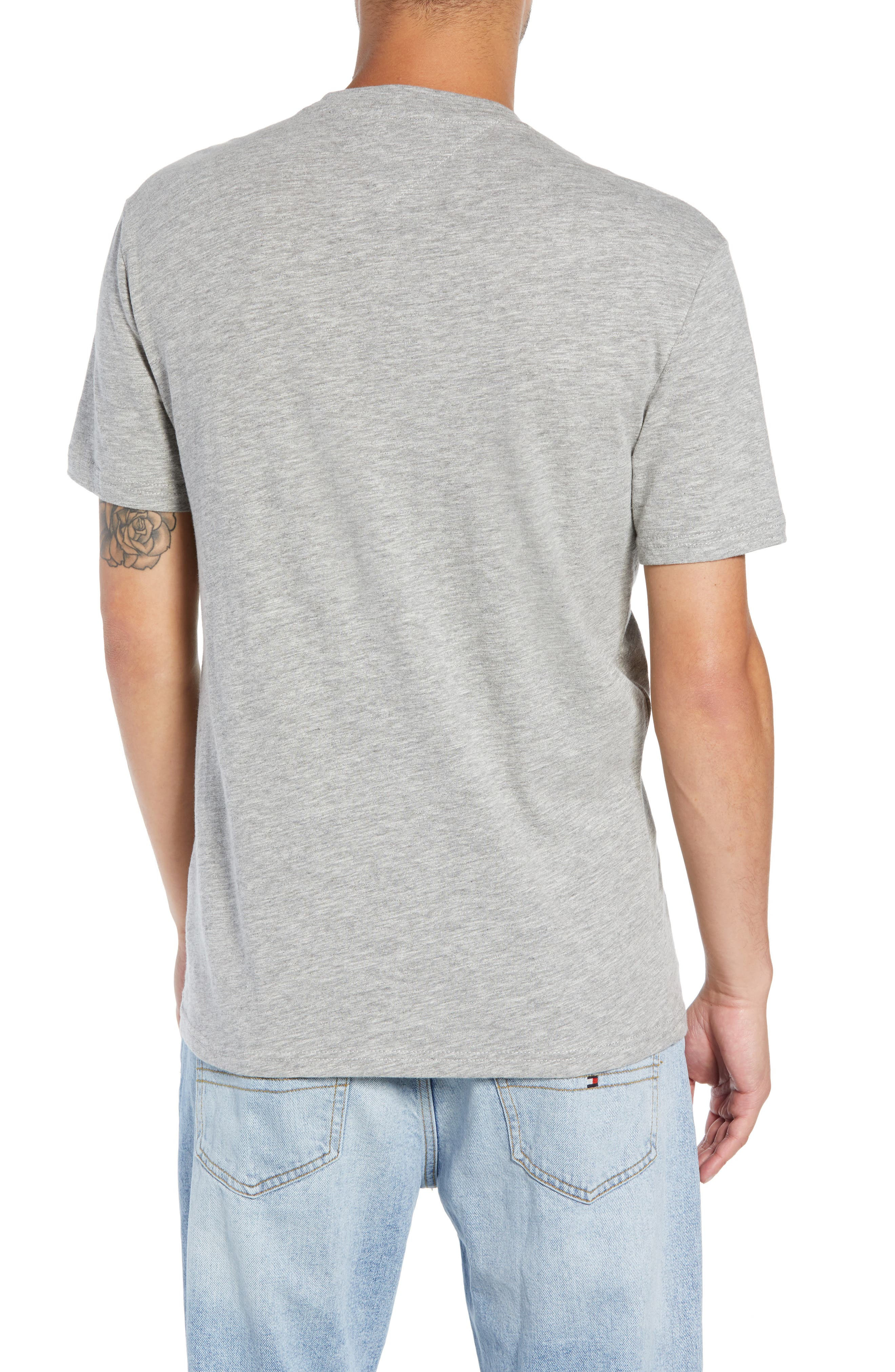 Collegiate Graphic T-Shirt,                             Alternate thumbnail 2, color,                             LIGHT GREY HEATHER