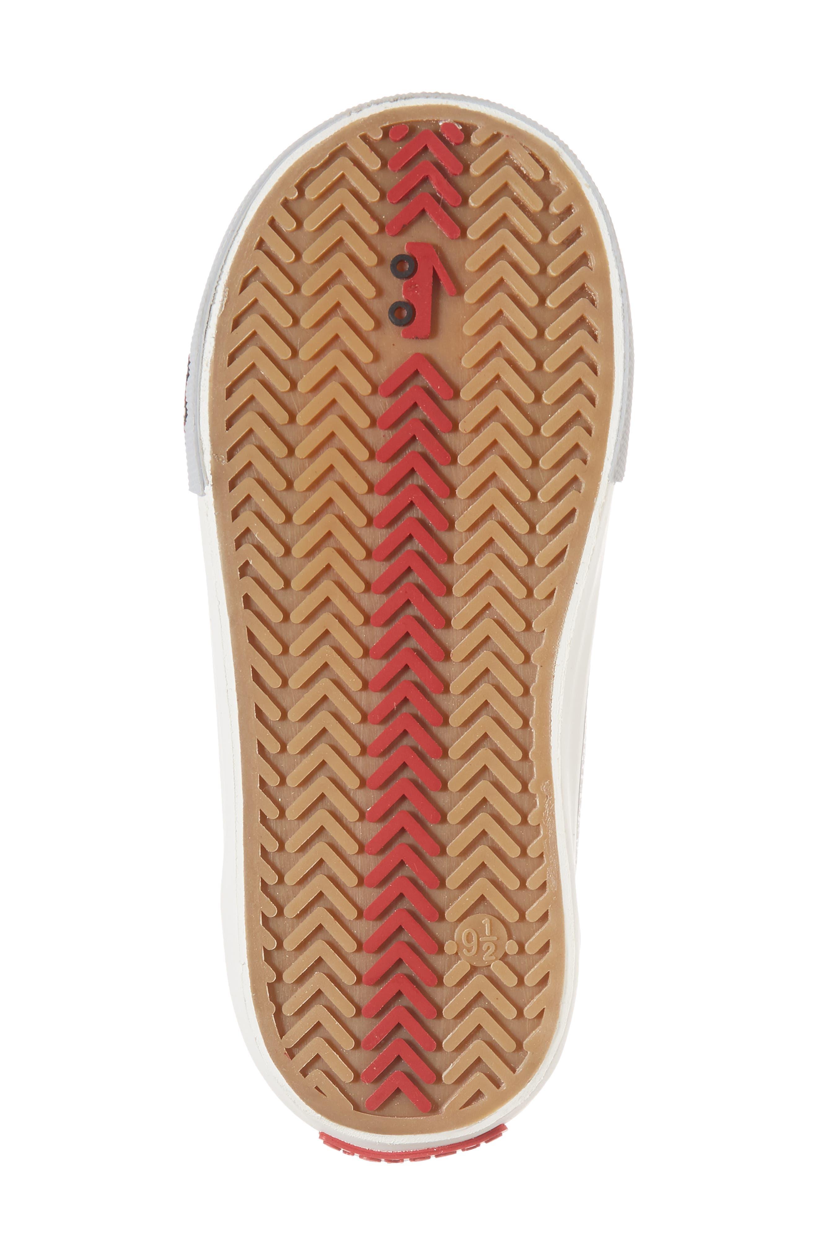 Peyton Metallic Mid Top Sneaker,                             Alternate thumbnail 6, color,                             SILVER GLITTER